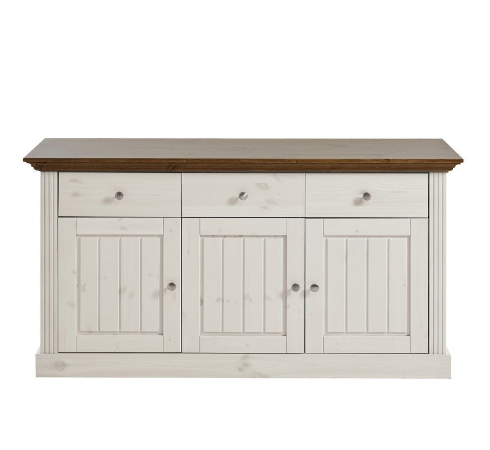 Inspiration about Riva White Painted Provence Large 3 Door 3 Drawer Sideboard 145Cm For Most Up To Date White Wash 3 Door 3 Drawer Sideboards (#8 of 20)