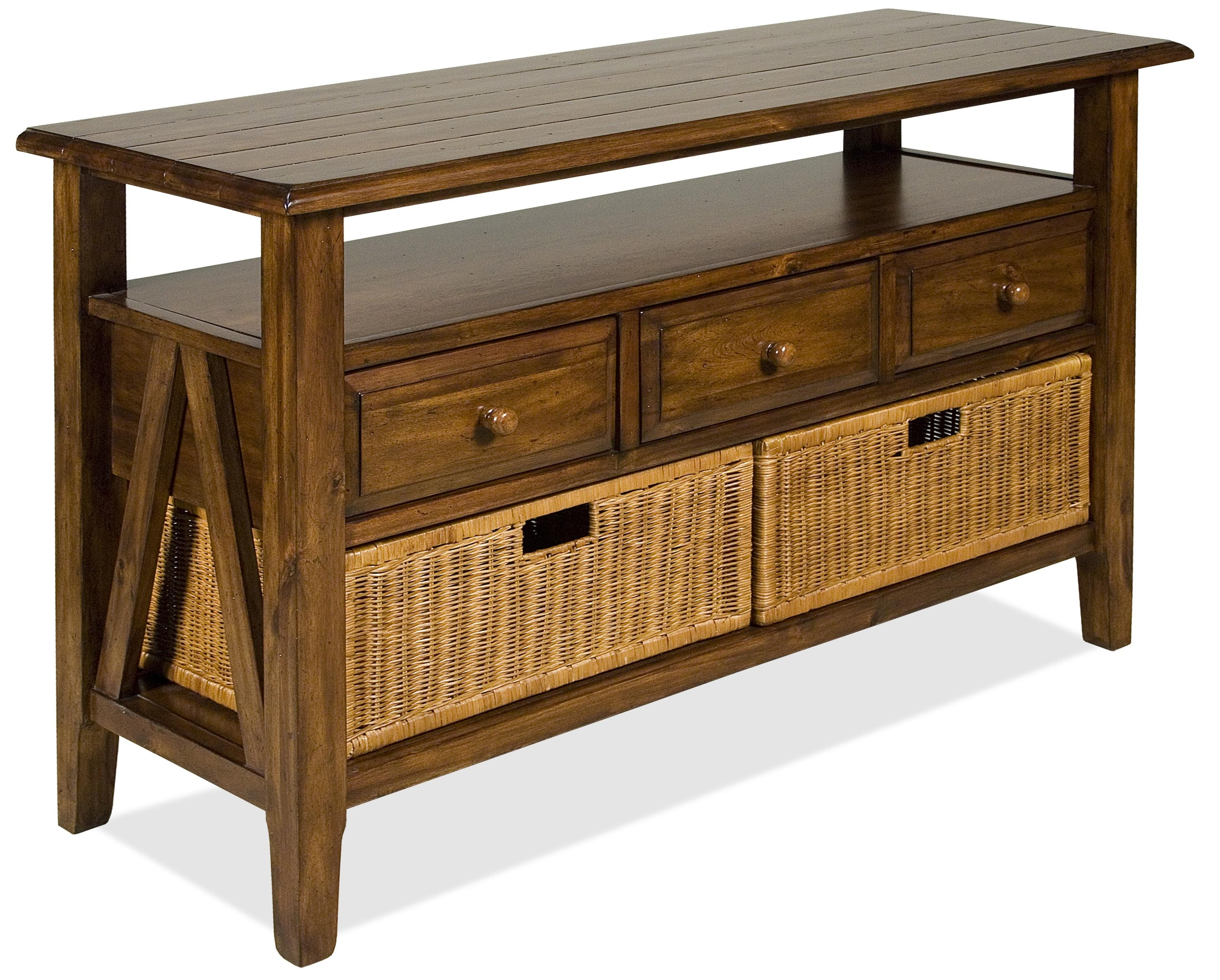 Inspiration about Riverside Furniture Claremont 3 Drawer Console Table With Storage In Latest Calhoun Sideboards (#17 of 20)