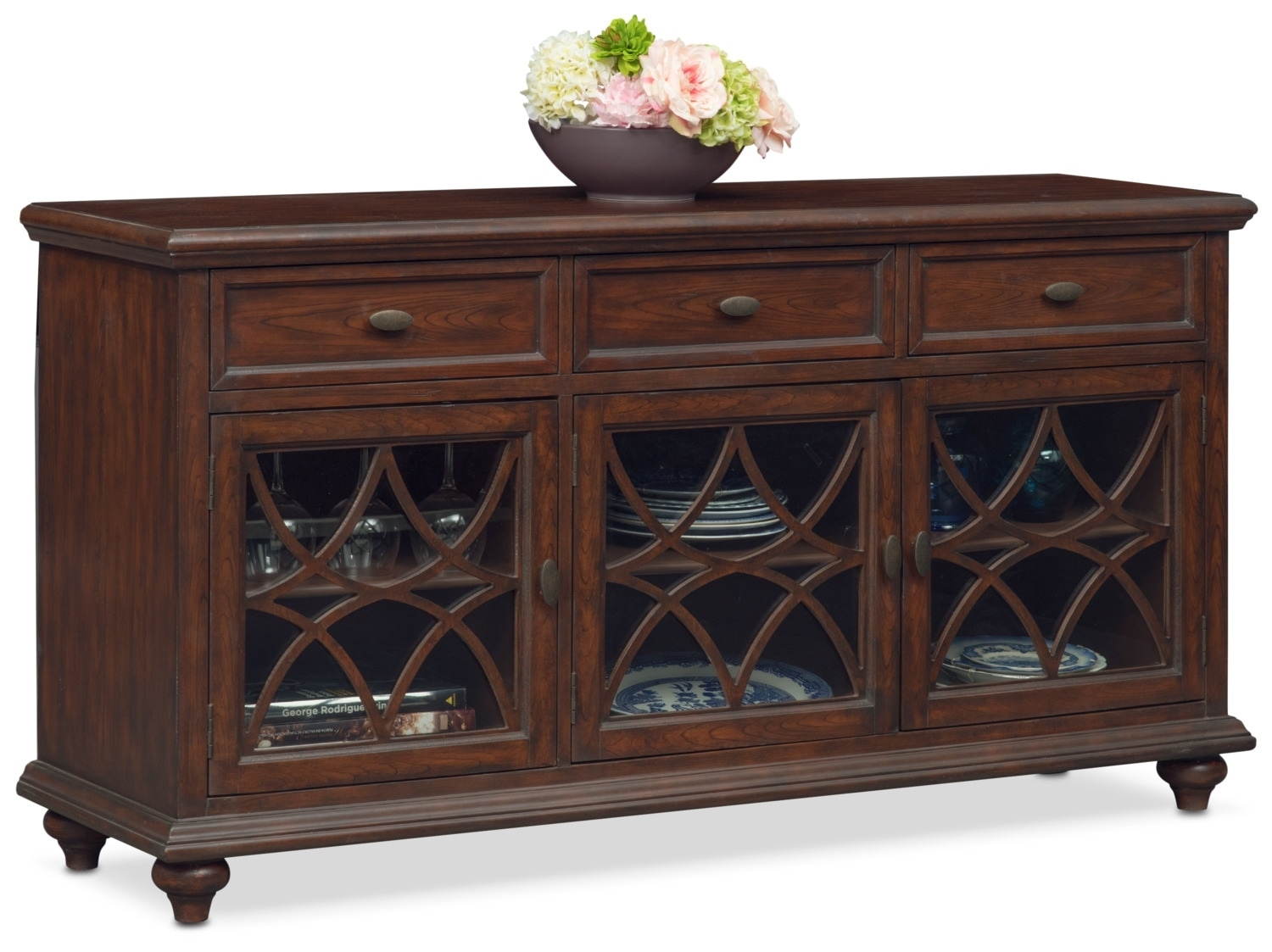 Rivoli Sideboard – Brown | Value City Furniture And Mattresses For Most Up To Date Diamond Circle Sideboards (#15 of 20)