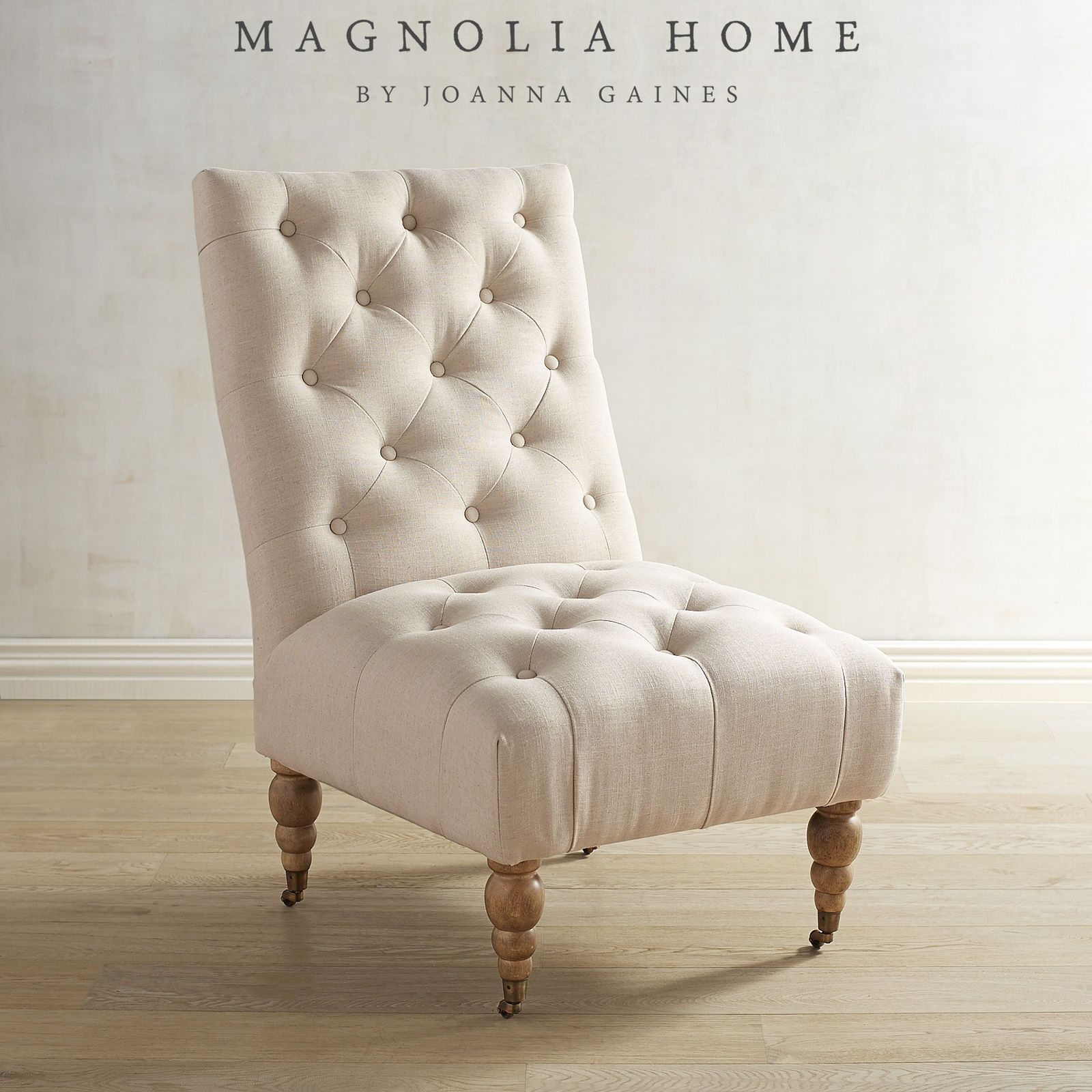 Inspiration about Room Decor With Magnolia Home Demi Flannel Wing Side Chairs (#16 of 20)