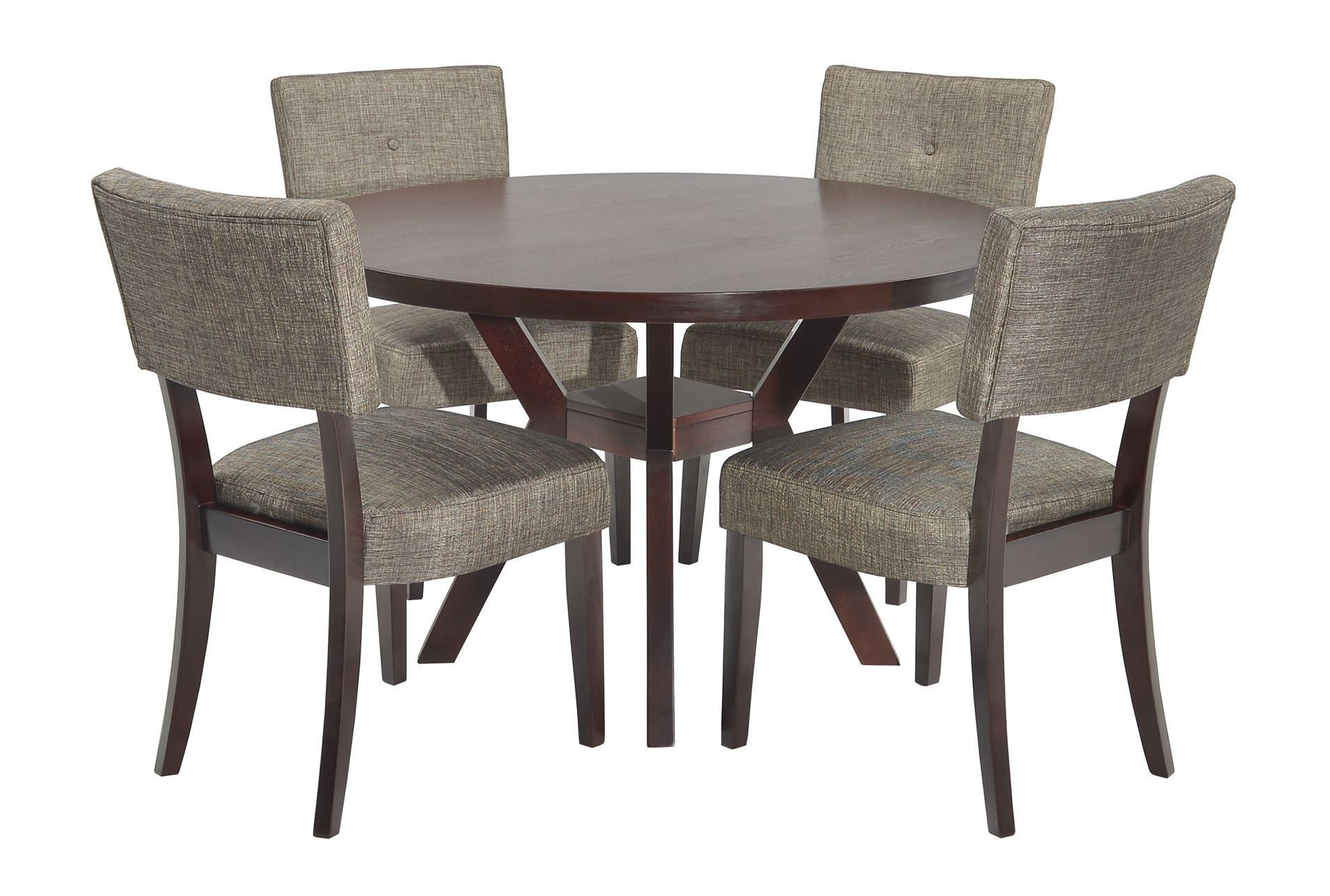 Round Dining Set, Round With Macie Side Chairs (#16 of 20)