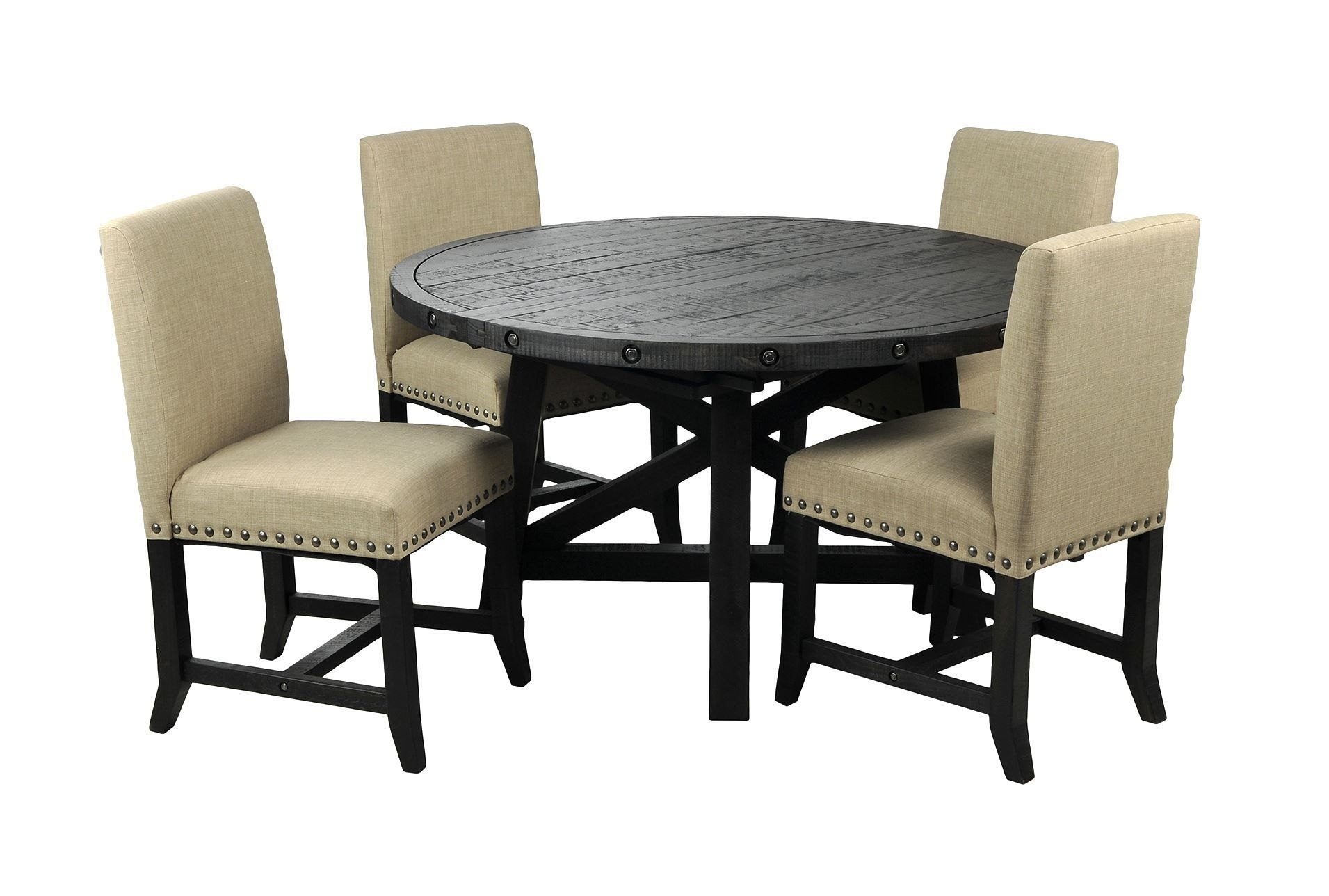 Round Table In Most Recently Released Jaxon Grey Upholstered Side Chairs (#19 of 20)