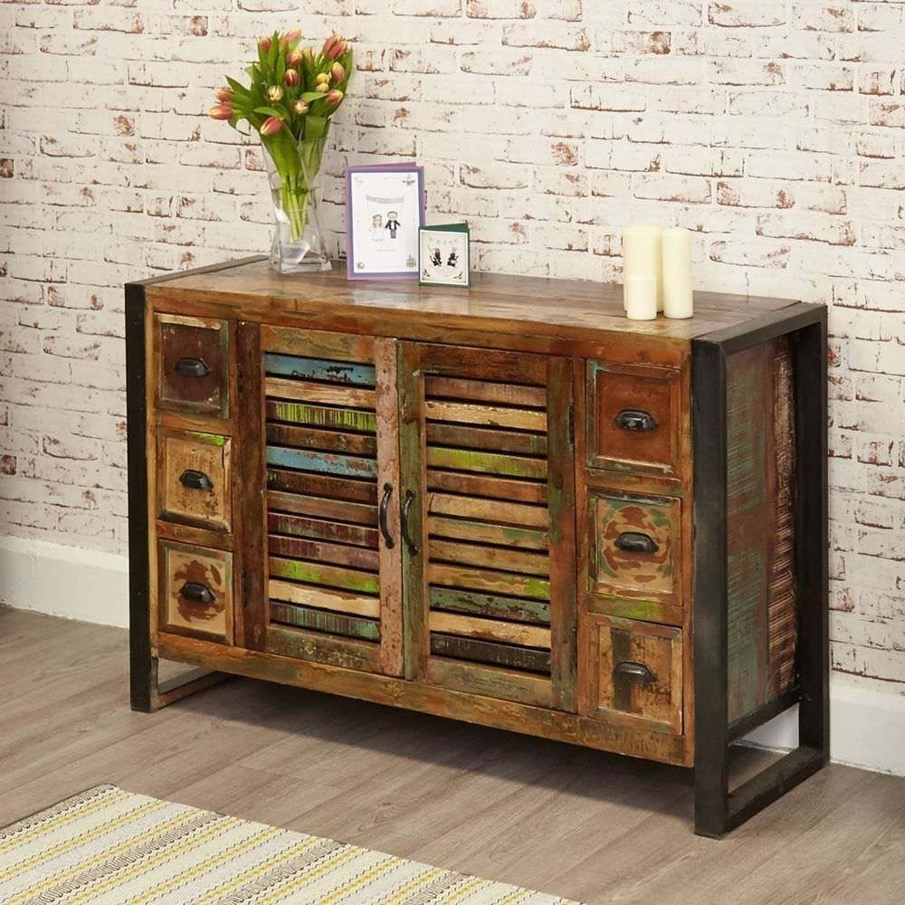 Inspiration about Rustic Industrial Six Drawer Sideboard – Reclaimed Wood | In Oxford Regarding Newest Reclaimed 3 Drawer Icebox Sideboards (#8 of 20)