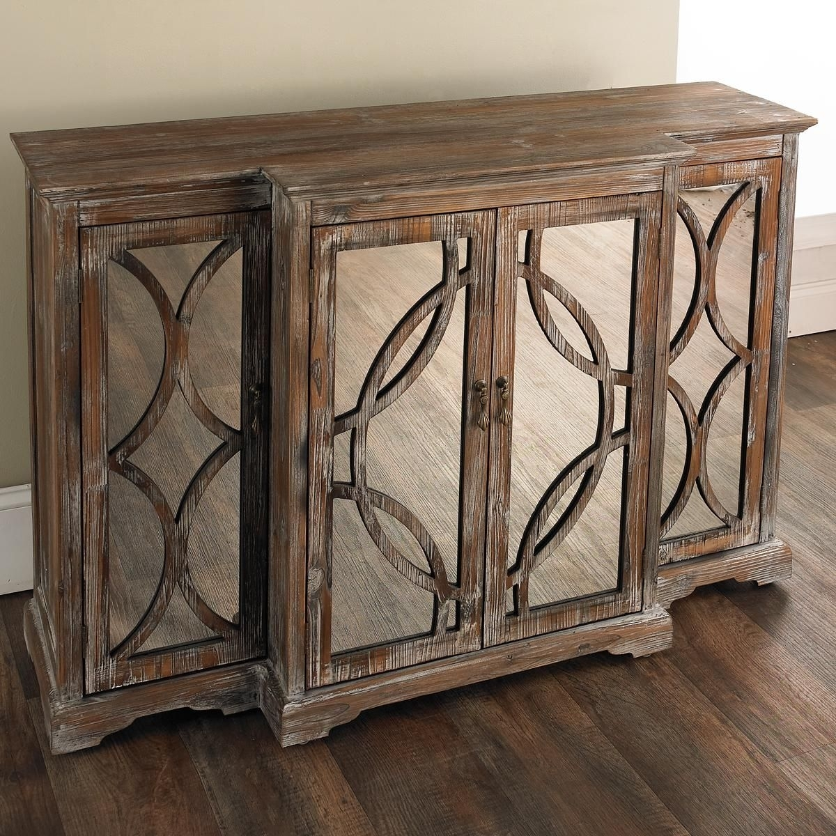 Inspiration about Rustic Mirror Front Sideboard | Accent Furniture | Pinterest In Latest 2 Door Mirror Front Sideboards (#1 of 20)
