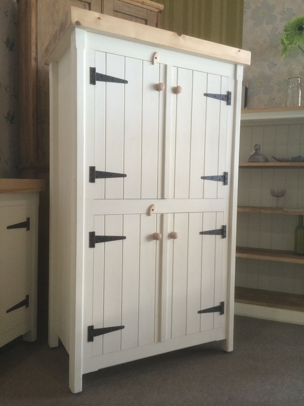 Inspiration about Rustic Wooden Pine Freestanding Kitchen Handmade Cupboard Unit Pertaining To Most Current Natural South Pine Sideboards (#17 of 20)