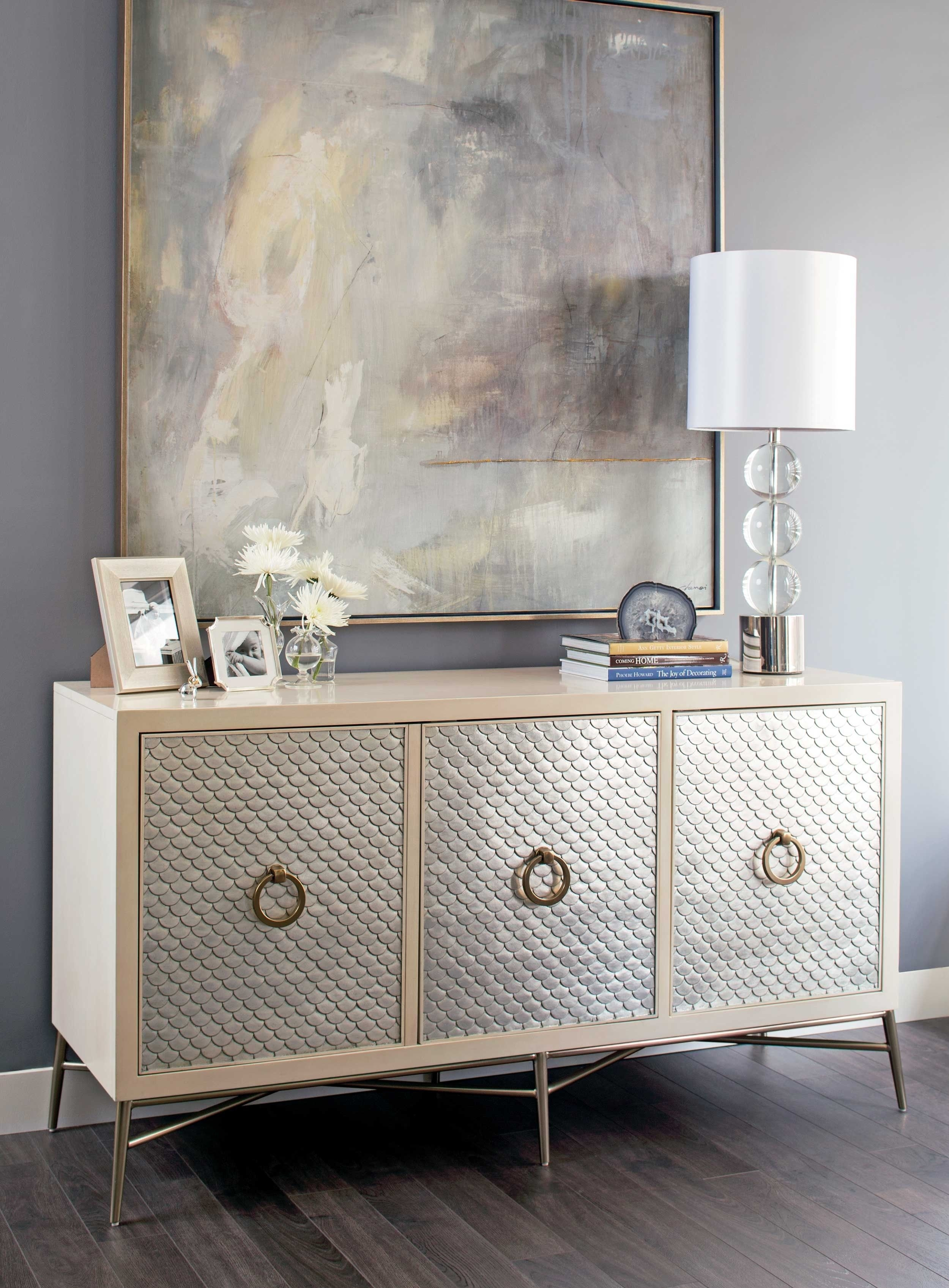 Salon Media Console | My Home My World | Pinterest | Home Decor Throughout Most Popular Capiz Refinement Sideboards (View 18 of 20)