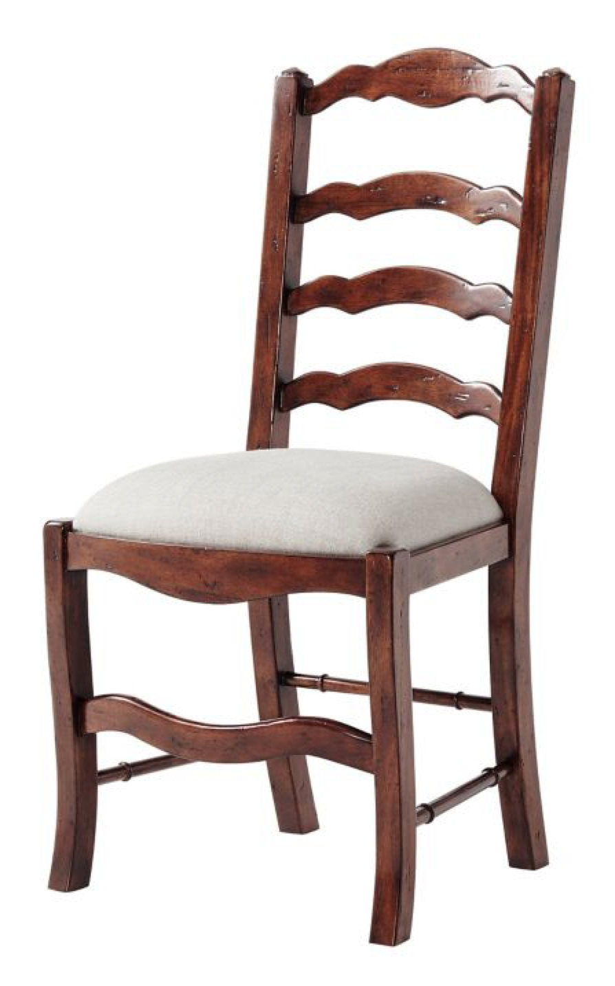 Serpentine Ladder Back Side Chair (#19 of 20)