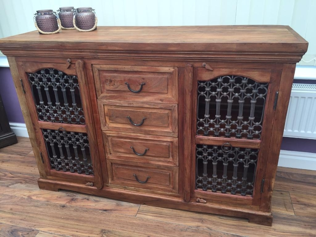 Sheesham Jali Sideboard | In Ellesmere Port, Cheshire | Gumtree Pertaining To Latest 4 Door/4 Drawer Cast Jali Sideboards (#12 of 20)