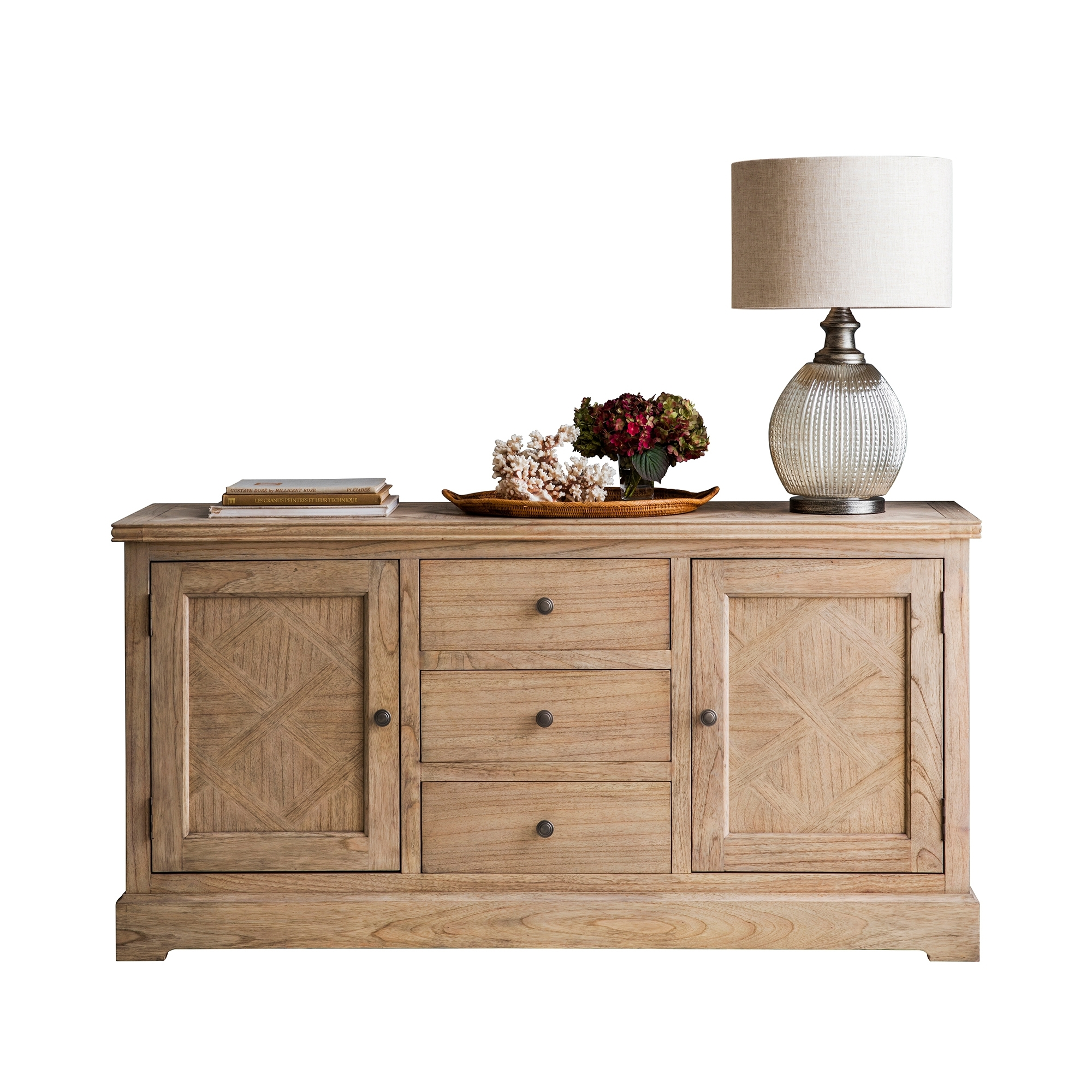 Sheffield Ash Wood Parquet Sideboard | Temple & Webster Pertaining To 2017 Parquet Sideboards (#18 of 20)