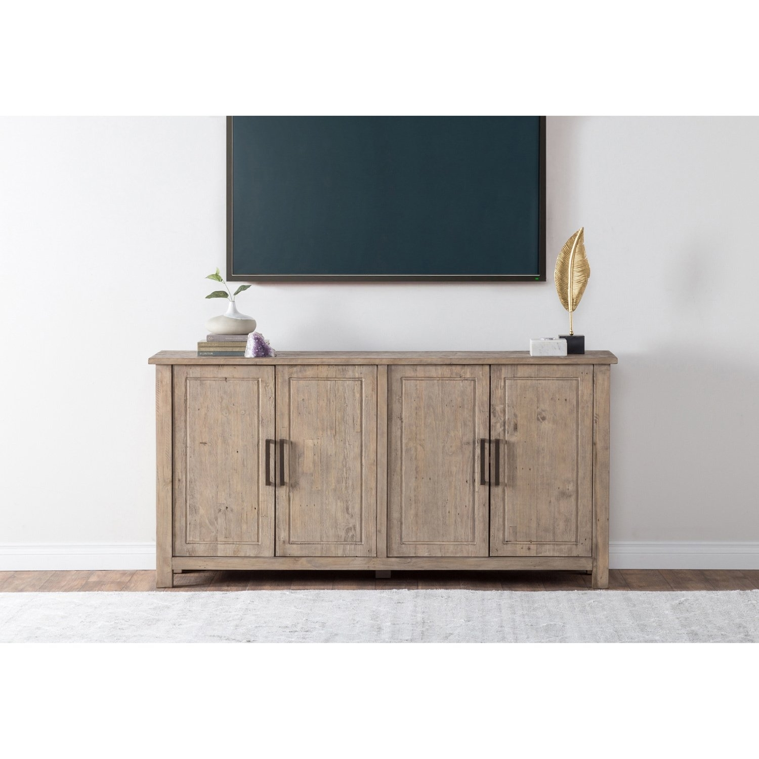 Shop Aires Reclaimed Wood 72 Inch Sideboardkosas Home – Free Pertaining To 2017 Reclaimed Pine & Iron 72 Inch Sideboards (View 6 of 20)