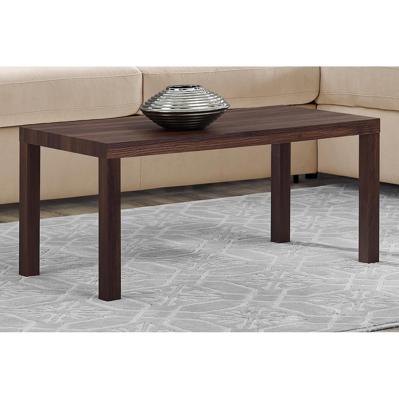 Shop Avenue Greene Jaxon Walnut Coffee Table – Free Shipping Today For Well Known Jaxon Grey Wood Side Chairs (#16 of 20)