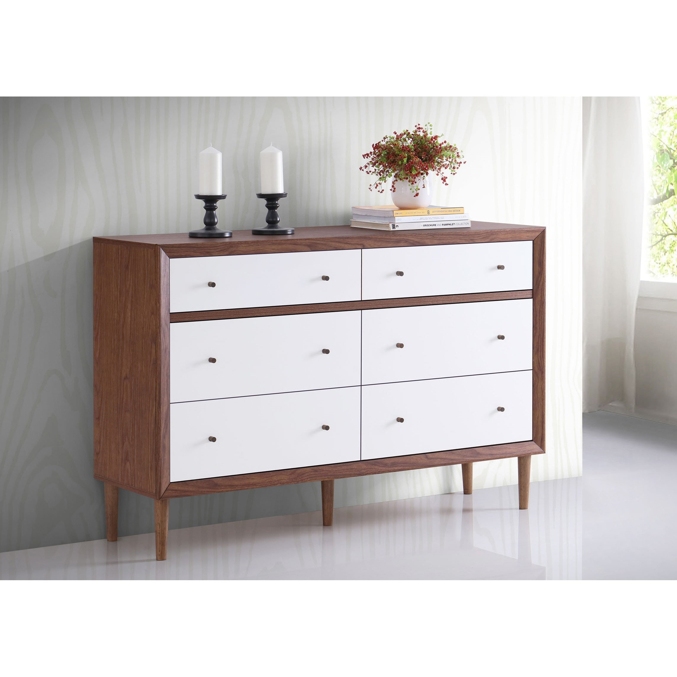 Shop Baxton Studio Harlow Mid Century Modern Scandinavian Style In Most Recently Released Marbled Axton Sideboards (View 5 of 20)