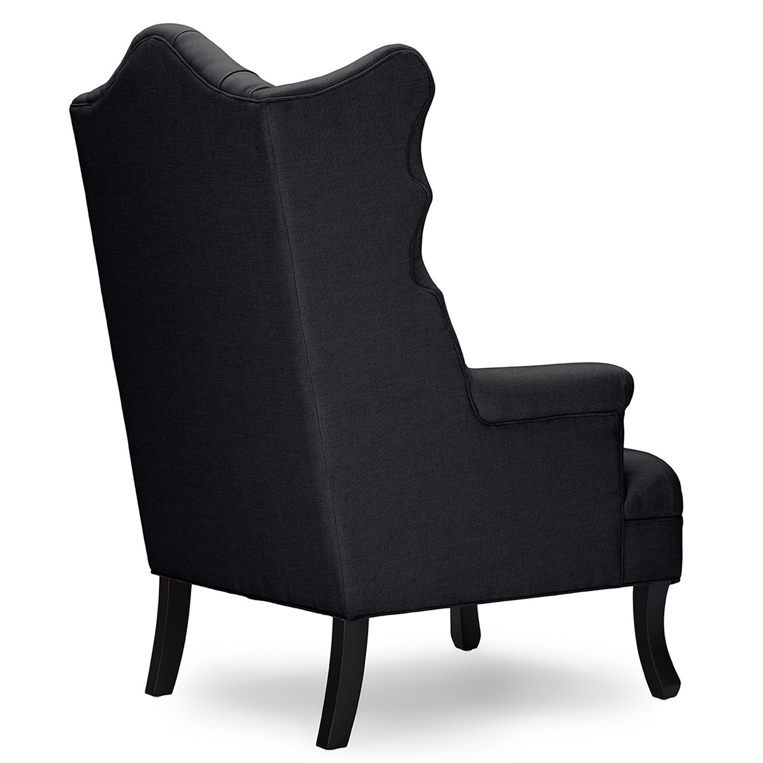 Shop Baxton Studio Norwood Grey Fabric Upholstered Wing Back Accent Throughout Widely Used Norwood Upholstered Side Chairs (#17 of 20)