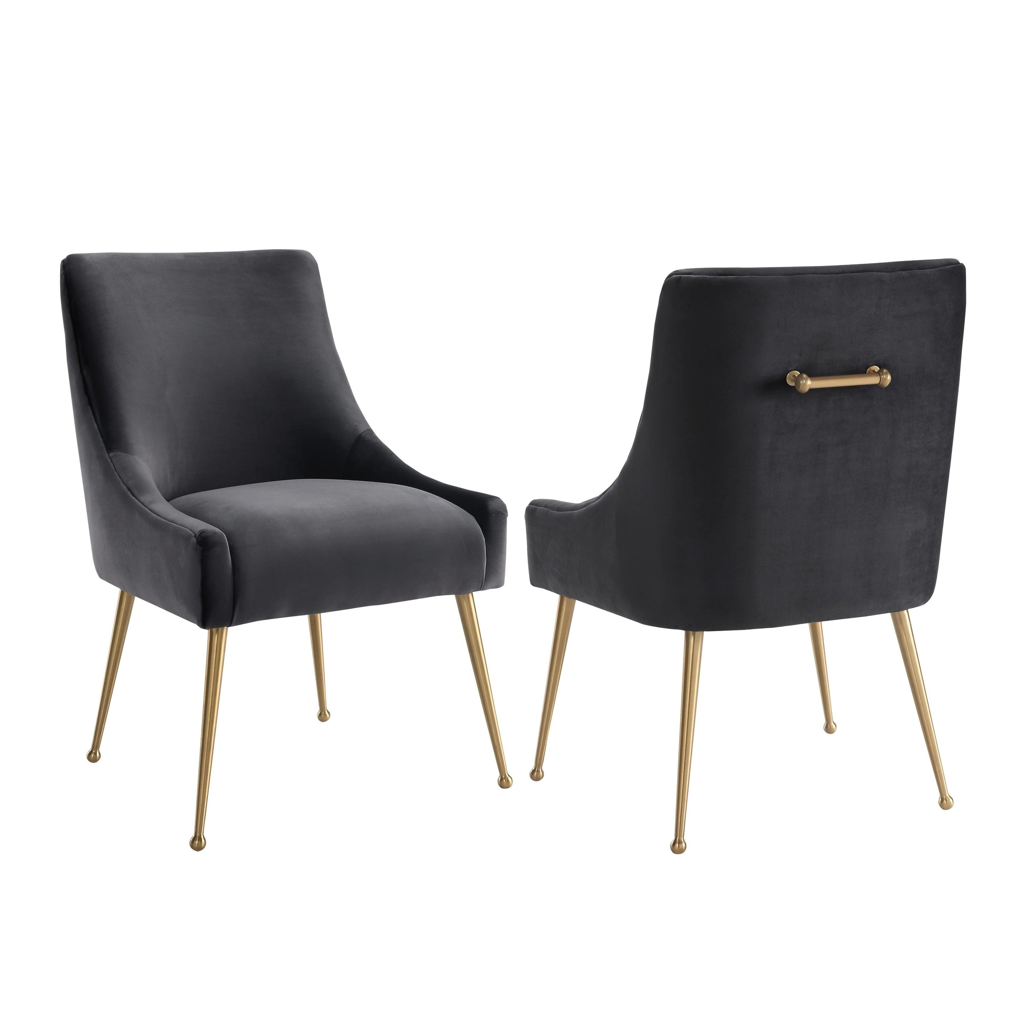 Shop Beatrix Grey Velvet Side Chair – Free Shipping Today Intended For Famous Pilo Grey Side Chairs (#15 of 20)