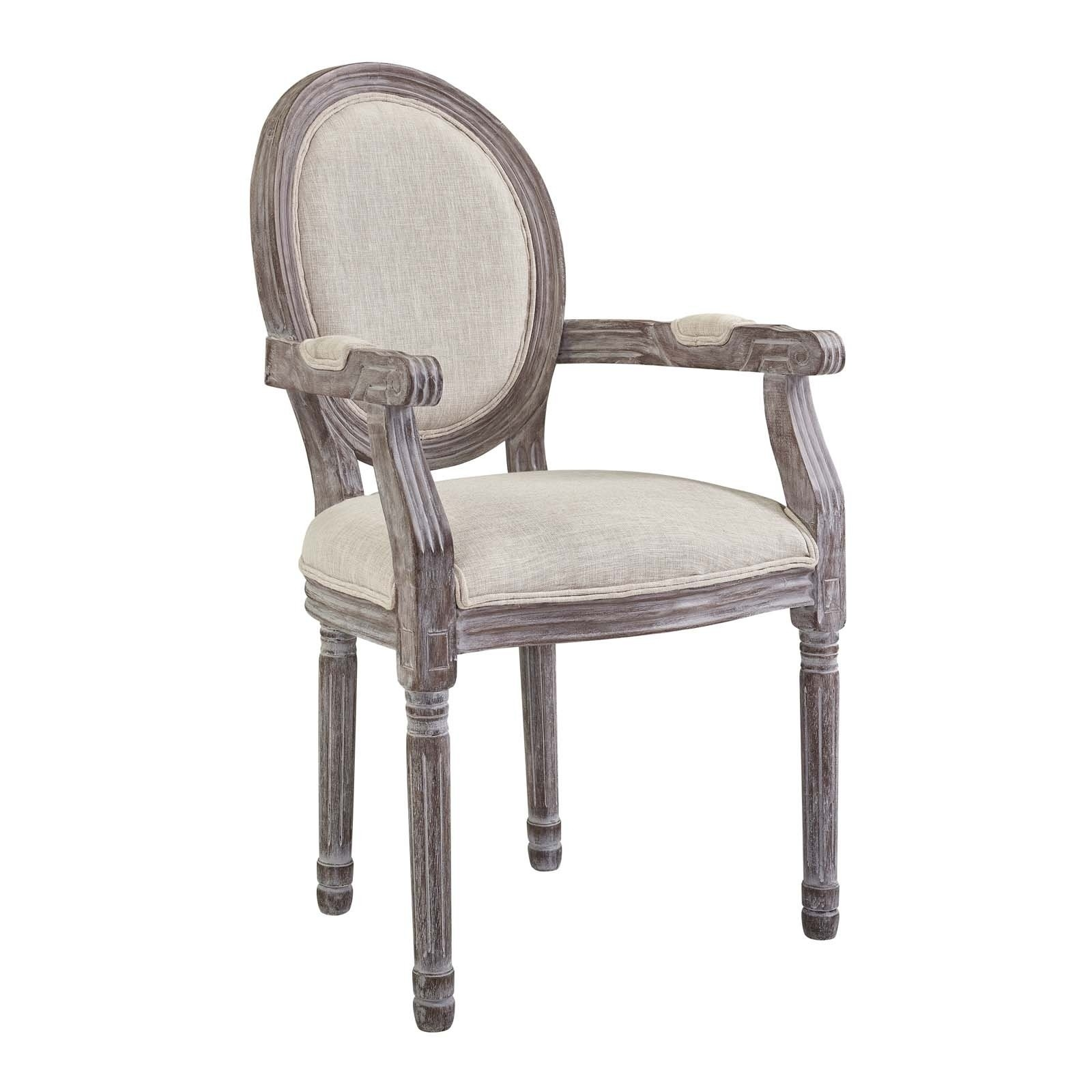 Shop Emanate Vintage French Upholstered Fabric Dining Armchair – N/a Throughout Most Current Caira Upholstered Arm Chairs (#12 of 20)