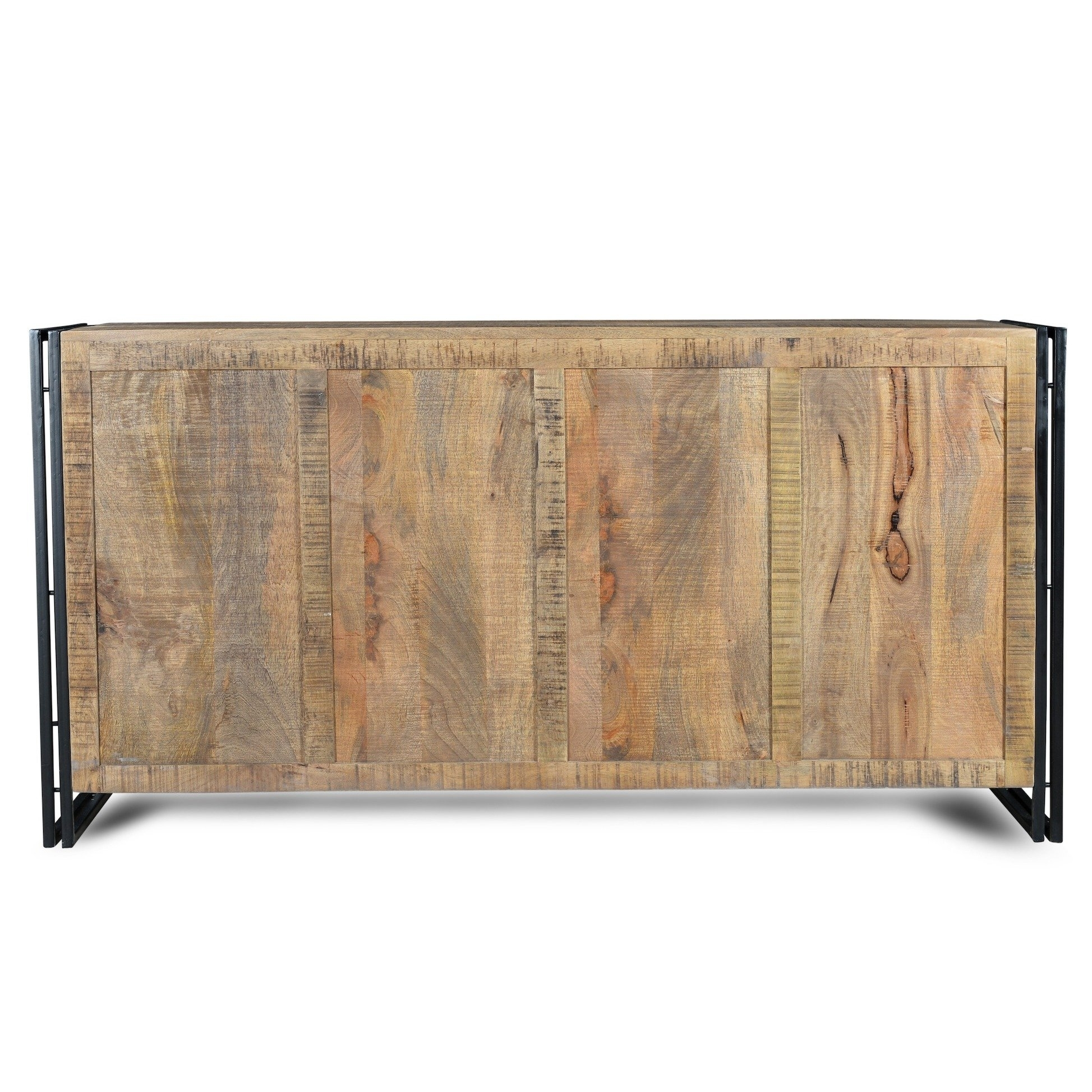 Shop Handmade Industrial Reclaimed Wood And Iron Sideboard (India With Recent Reclaimed Sideboards With Metal Panel (#14 of 20)
