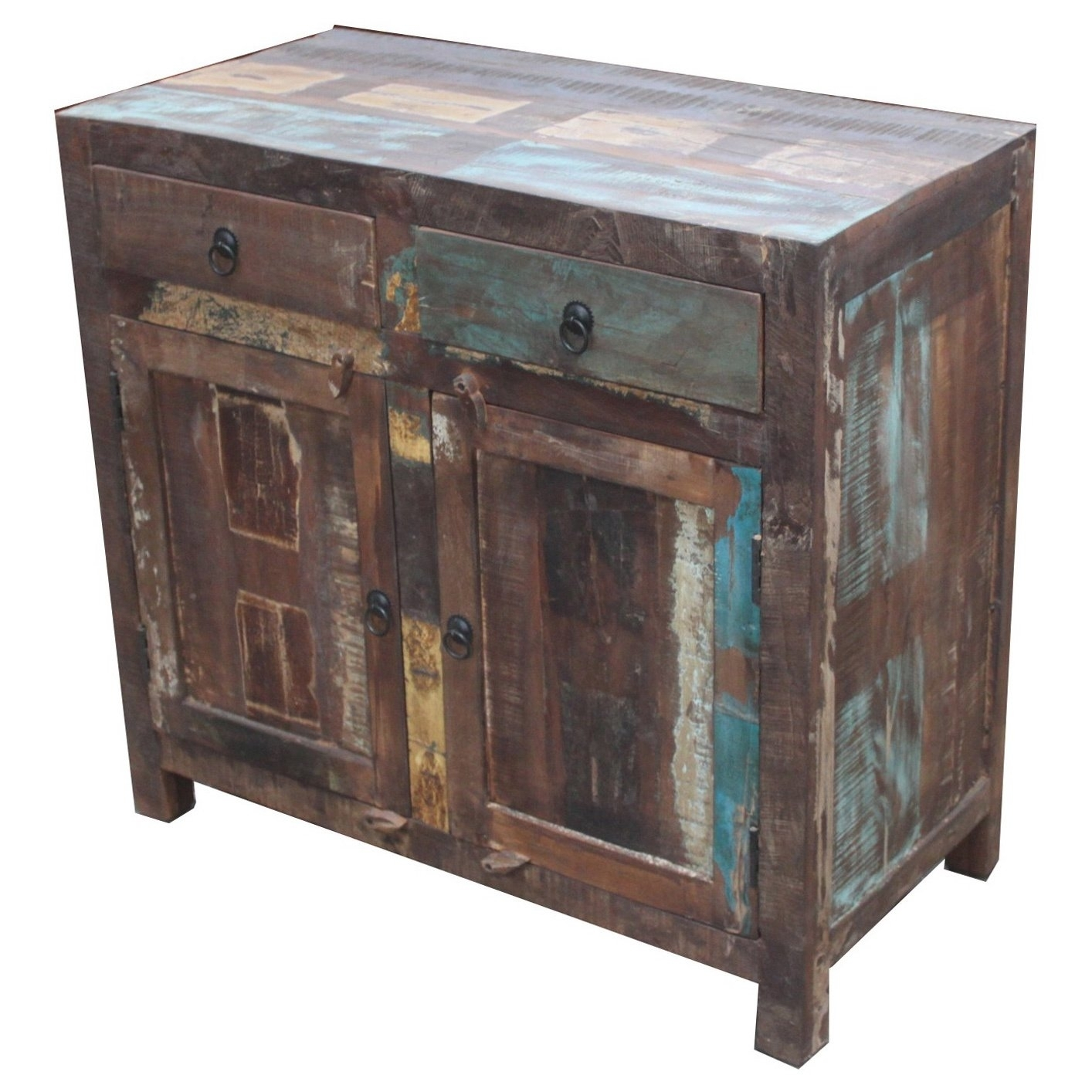 Shop Handmade Timbergirl Reclaimed Wood 2 Door Sideboard Cabinet For Most Up To Date Reclaimed Pine Turquoise 4 Door Sideboards (View 9 of 20)