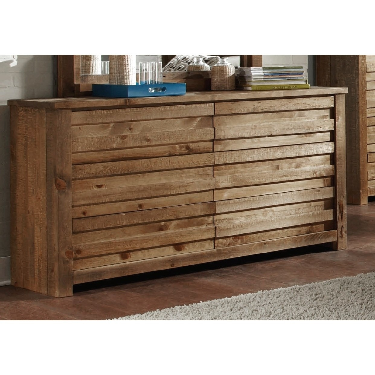 Shop Melrose Pine Dresser – Free Shipping Today – Overstock With Regard To Current Light Brown Reclaimed Elm & Pine 84 Inch Sideboards (View 10 of 20)