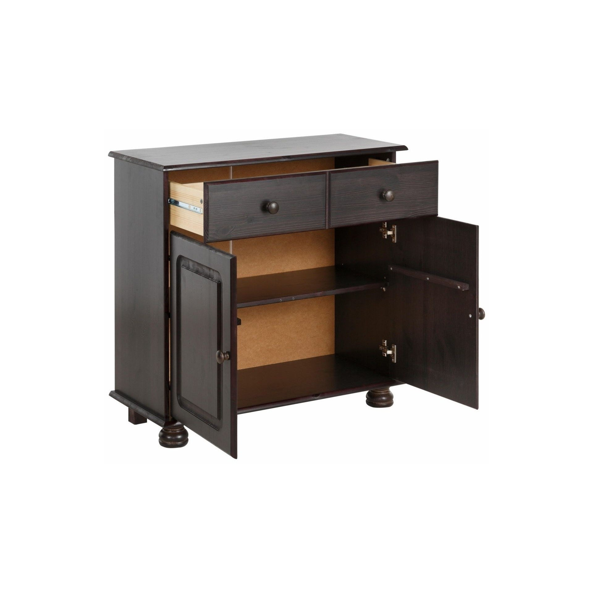 Shop Mette Solid Pine 2 Door, 1 Drawer Sideboard – Free Shipping Intended For Latest Burn Tan Finish 2 Door Sideboards (#16 of 20)