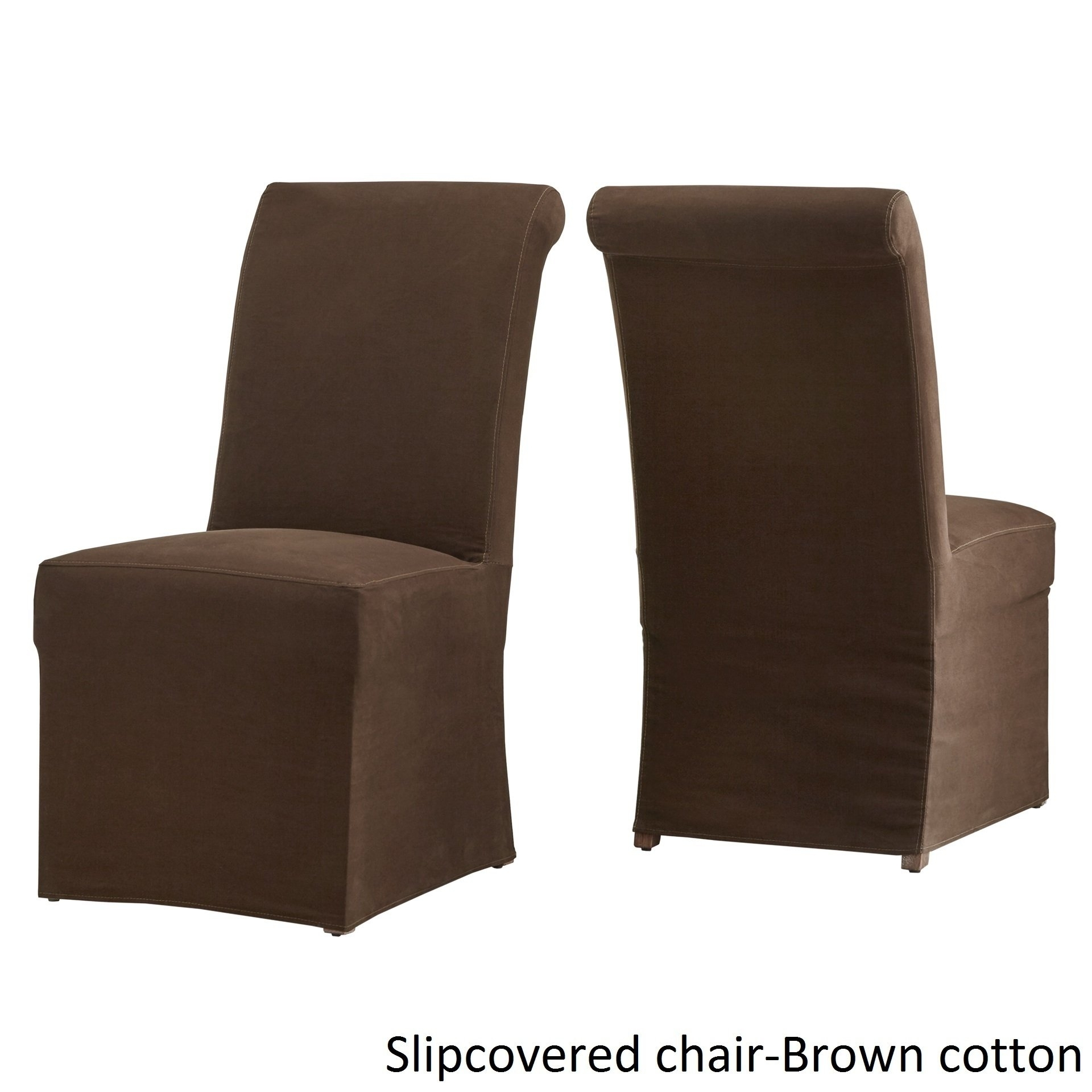 Shop Potomac Slipcovered Rolled Back Parsons Chairs (Set Of 2) Intended For Latest Garten Linen Skirted Side Chairs Set Of  (#11 of 20)