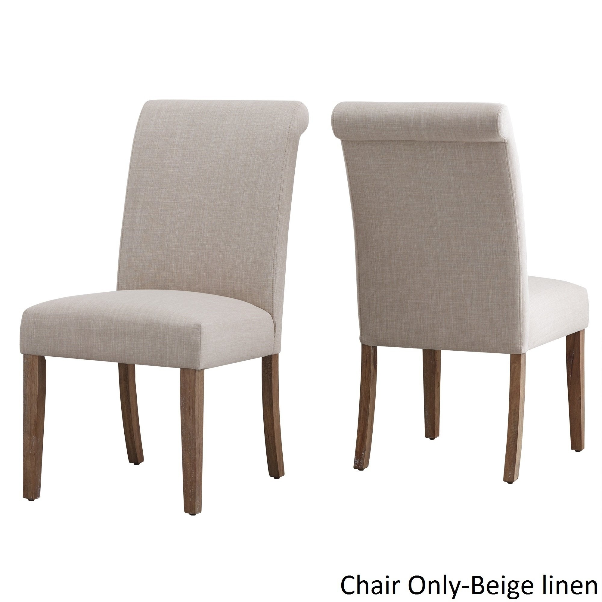 Shop Potomac Slipcovered Rolled Back Parsons Chairs (Set Of 2) Throughout Preferred Garten Linen Skirted Side Chairs Set Of  (#13 of 20)