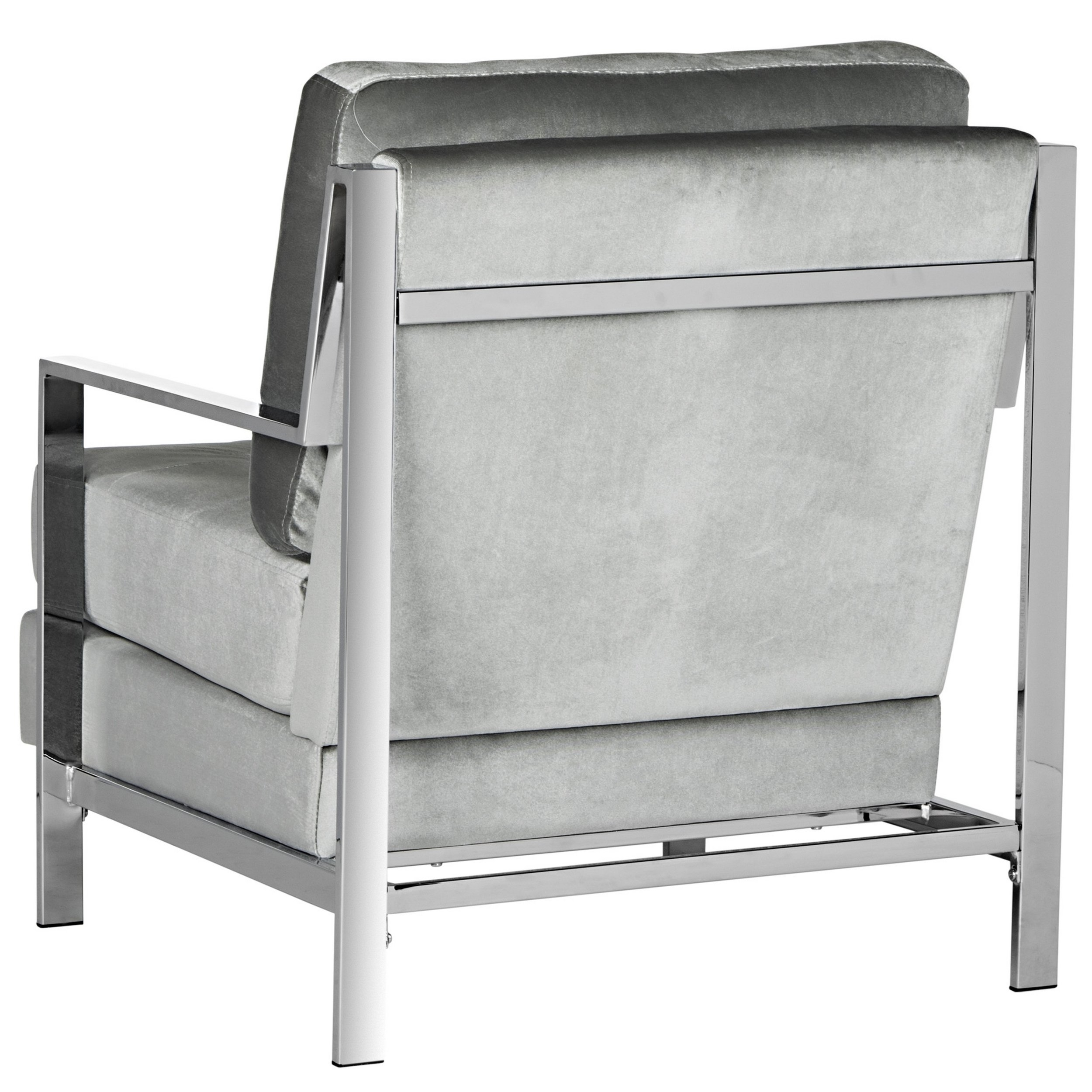 Shop Safavieh Mid Century Modern Glam Walden Velvet Light Grey Club For Most Recently Released Walden Upholstered Side Chairs (#9 of 20)