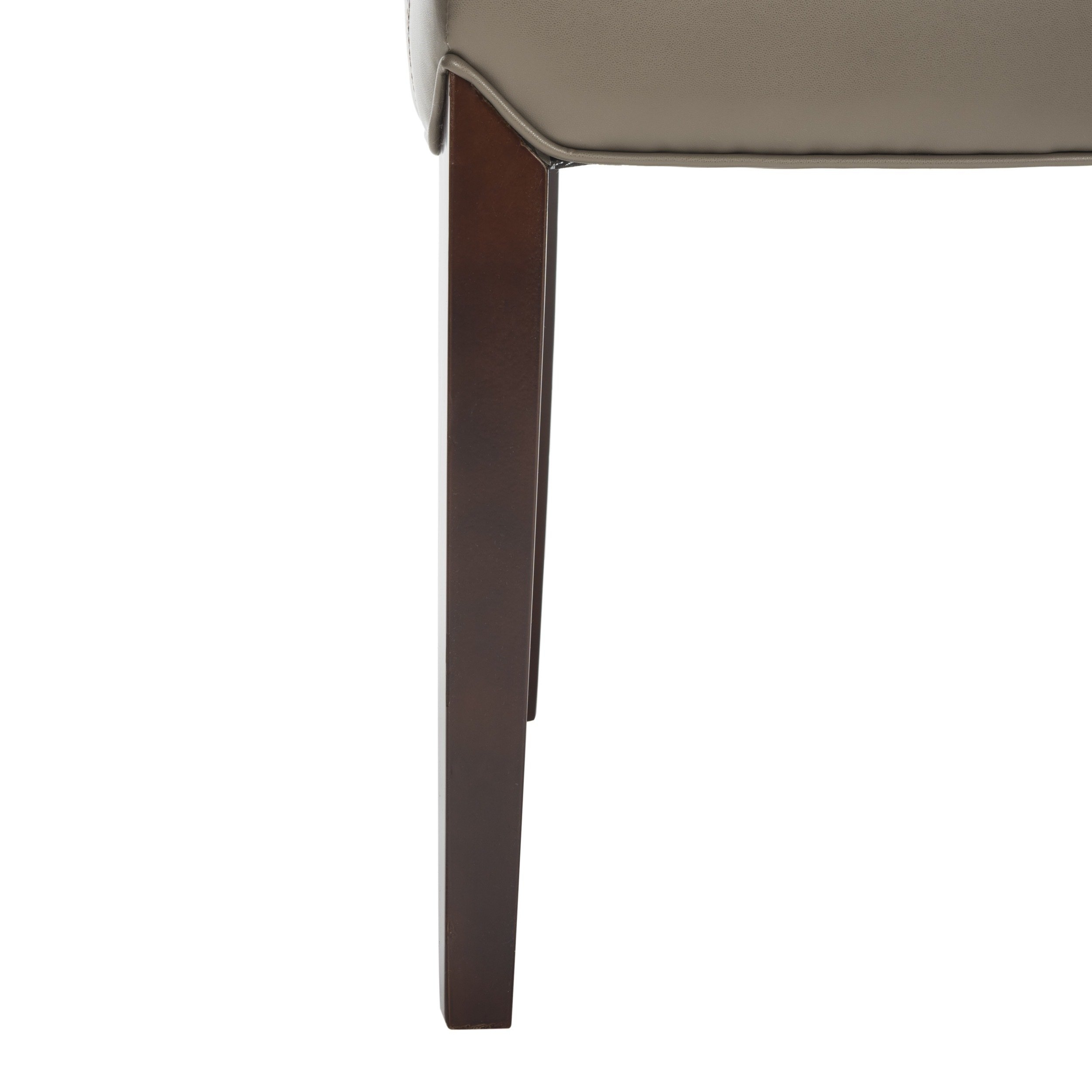Shop Safavieh Parsons Dining Bowery Brown Clay Leather Dining Chairs Intended For Well Known Bowery Ii Side Chairs (#17 of 20)