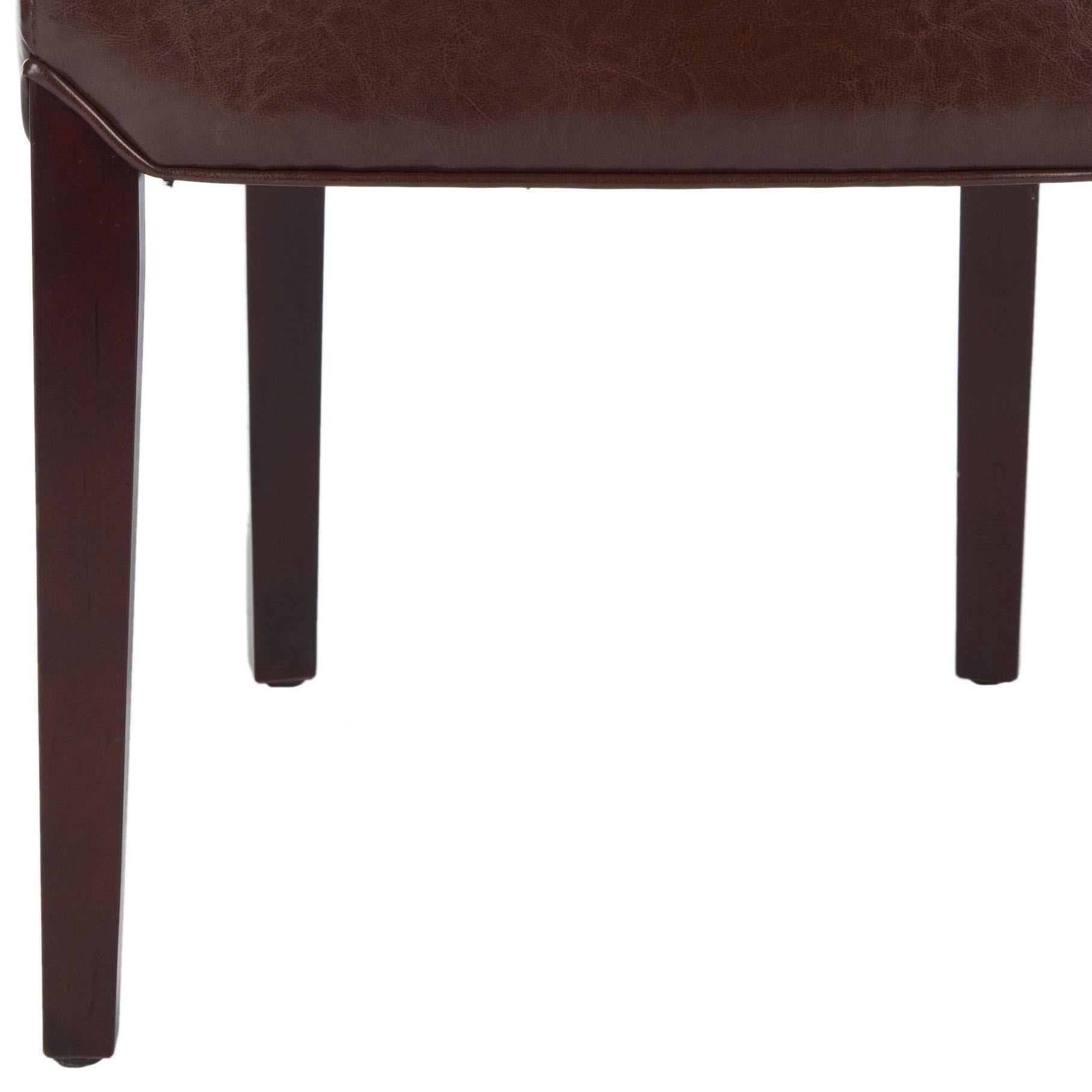 Shop Safavieh Parsons Dining Bowery Brown Marbled Leather Dining Throughout Well Known Bowery Ii Side Chairs (#18 of 20)
