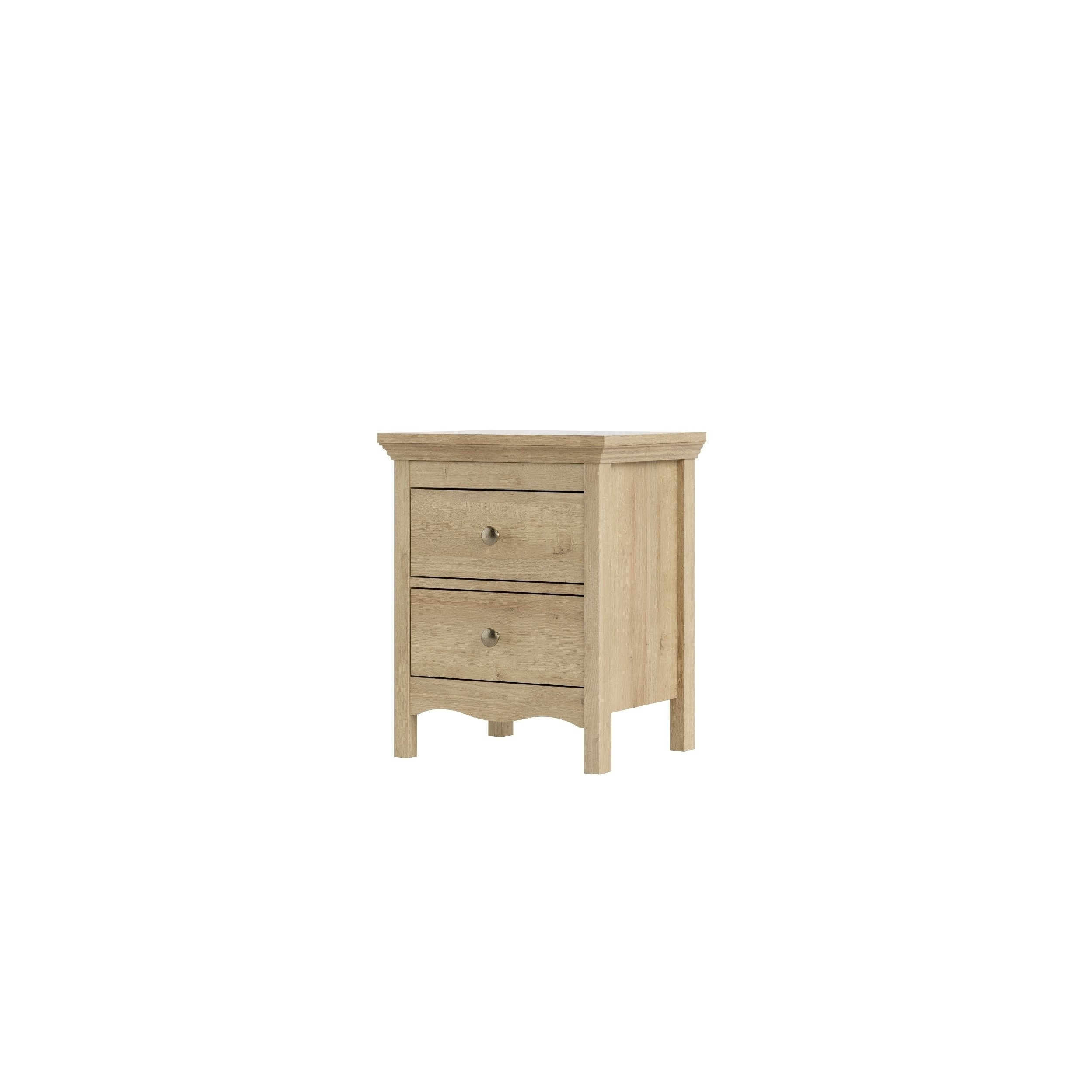 Shop Silkeborg Riviera Oak 2 Drawer Nightstand – Free Shipping Today Pertaining To Newest Mid Burnt Oak 71 Inch Sideboards (View 15 of 20)