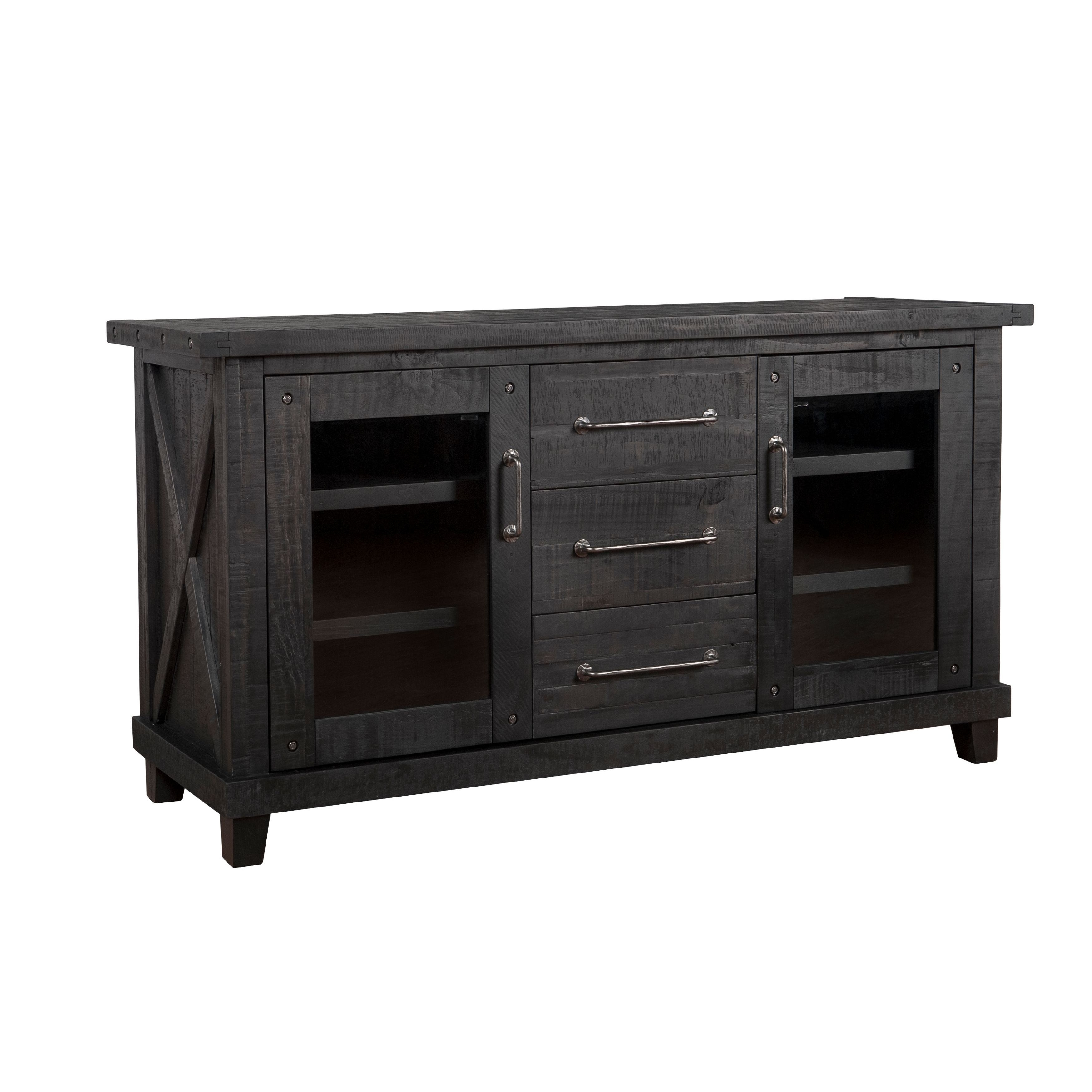 Popular Photo of Rustic Black & Zebra Pine Sideboards