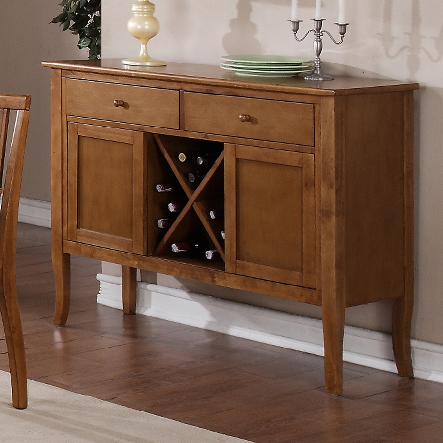 Shop Steve Silver Company Candice Oak Sideboard With Wine Storage At Intended For Newest Candice Ii Sideboards (View 8 of 20)