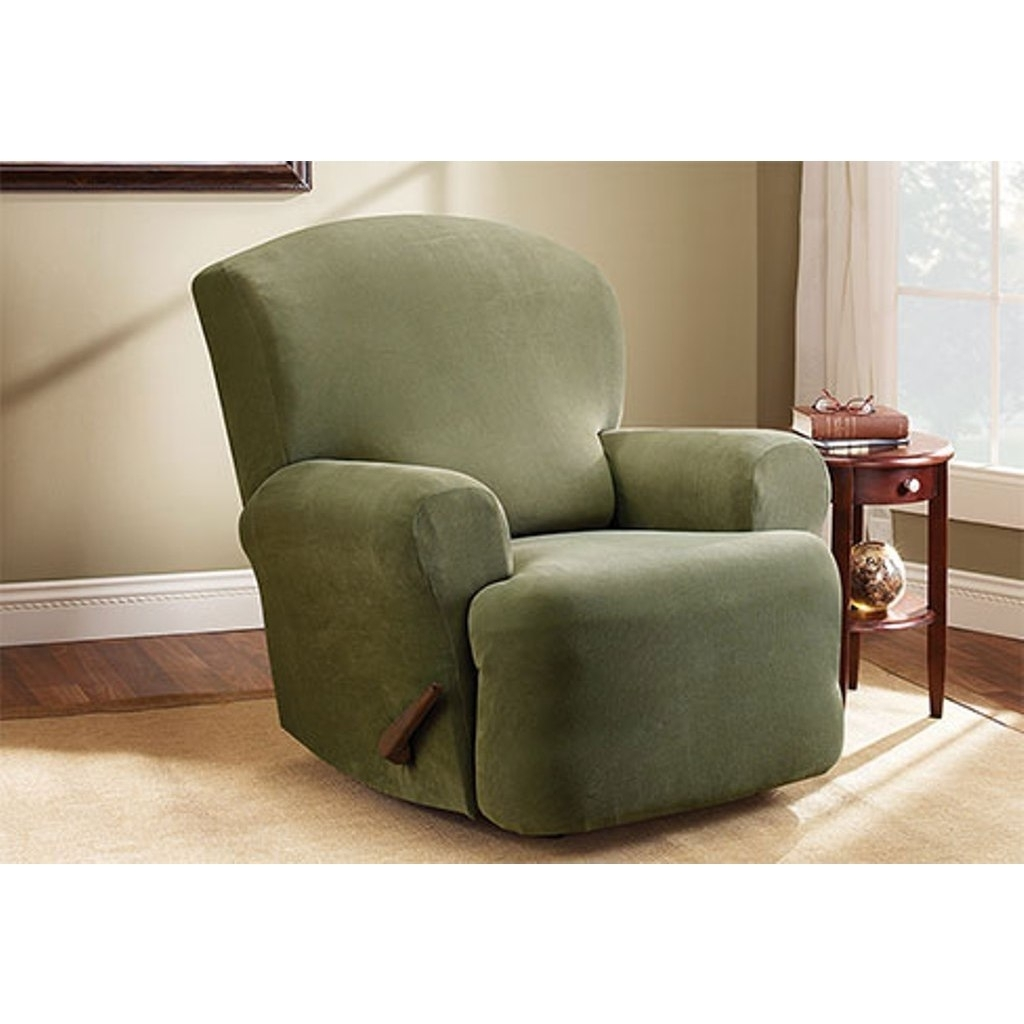 Shop Sure Fit Stretch Pearson Recliner Slipcover – Free Shipping Inside Widely Used Pearson Grey Slipcovered Side Chairs (#16 of 20)