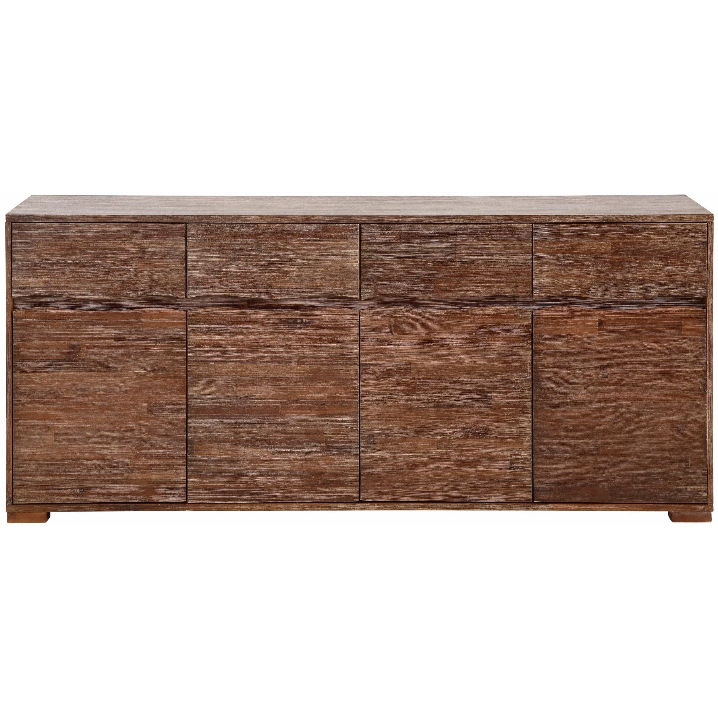 Shop Surf Sideboard With 4 Doors And 4 Drawers, Acacia Wood – On For Most Current Mango Wood Grey 4 Drawer 4 Door Sideboards (#14 of 20)