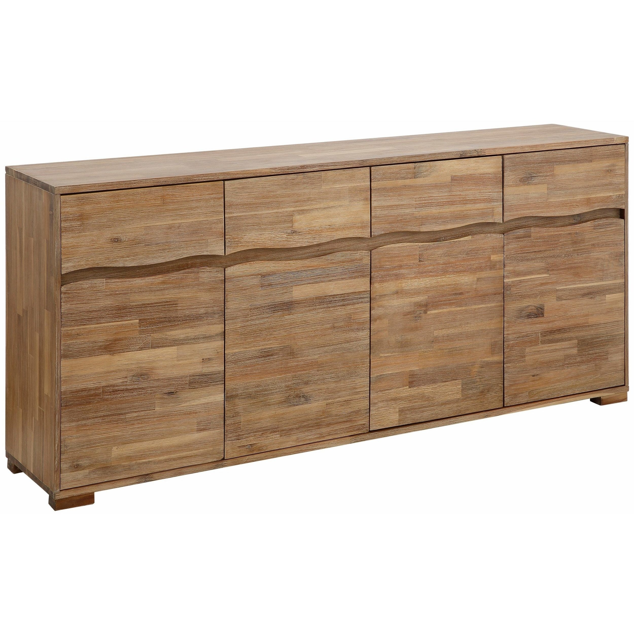 Shop Surf Sideboard With 4 Doors And 4 Drawers, Acacia Wood – On With 2017 Acacia Wood 4 Door Sideboards (#14 of 20)