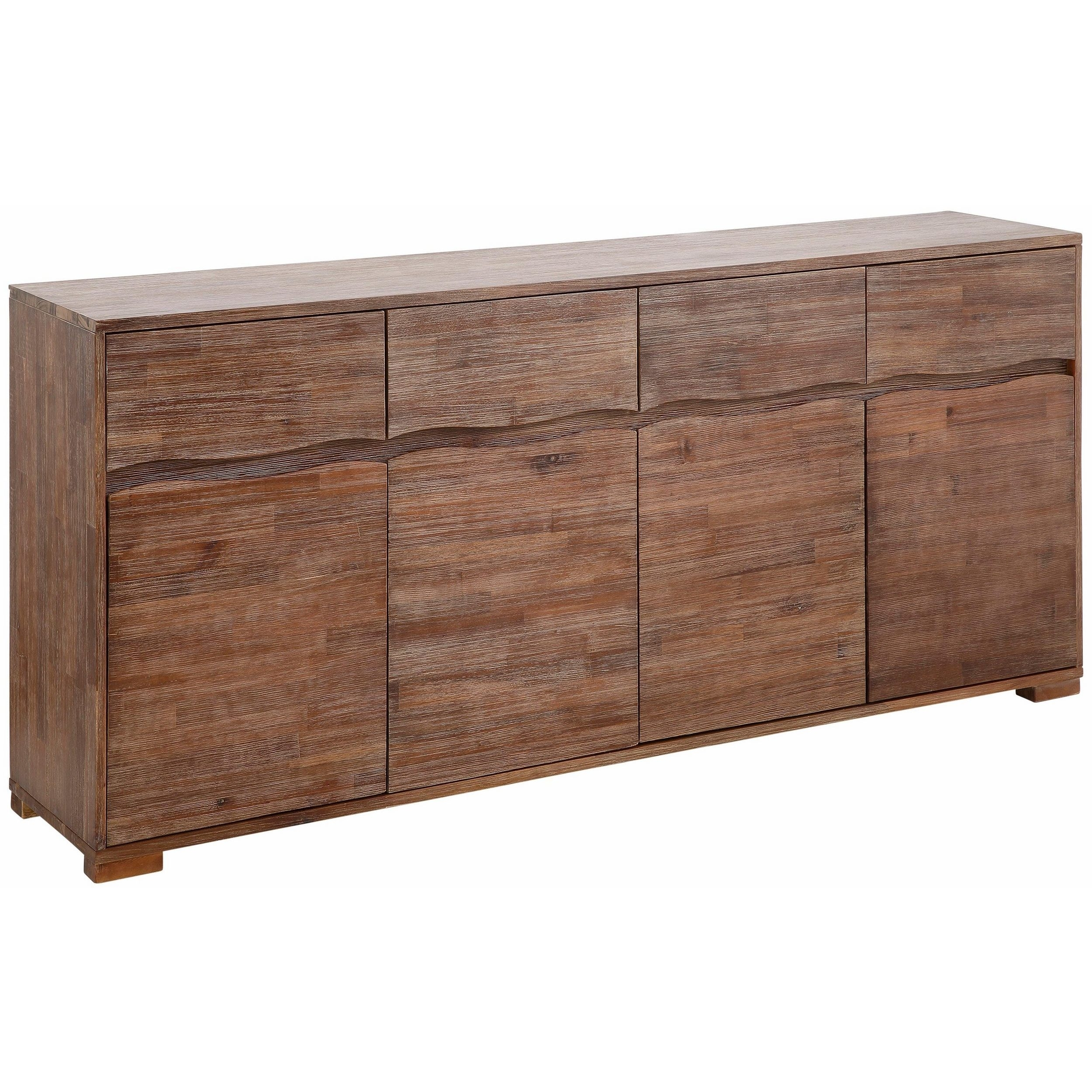 Shop Surf Sideboard With 4 Doors And 4 Drawers, Acacia Wood – On With Regard To Most Popular Acacia Wood 4 Door Sideboards (#15 of 20)