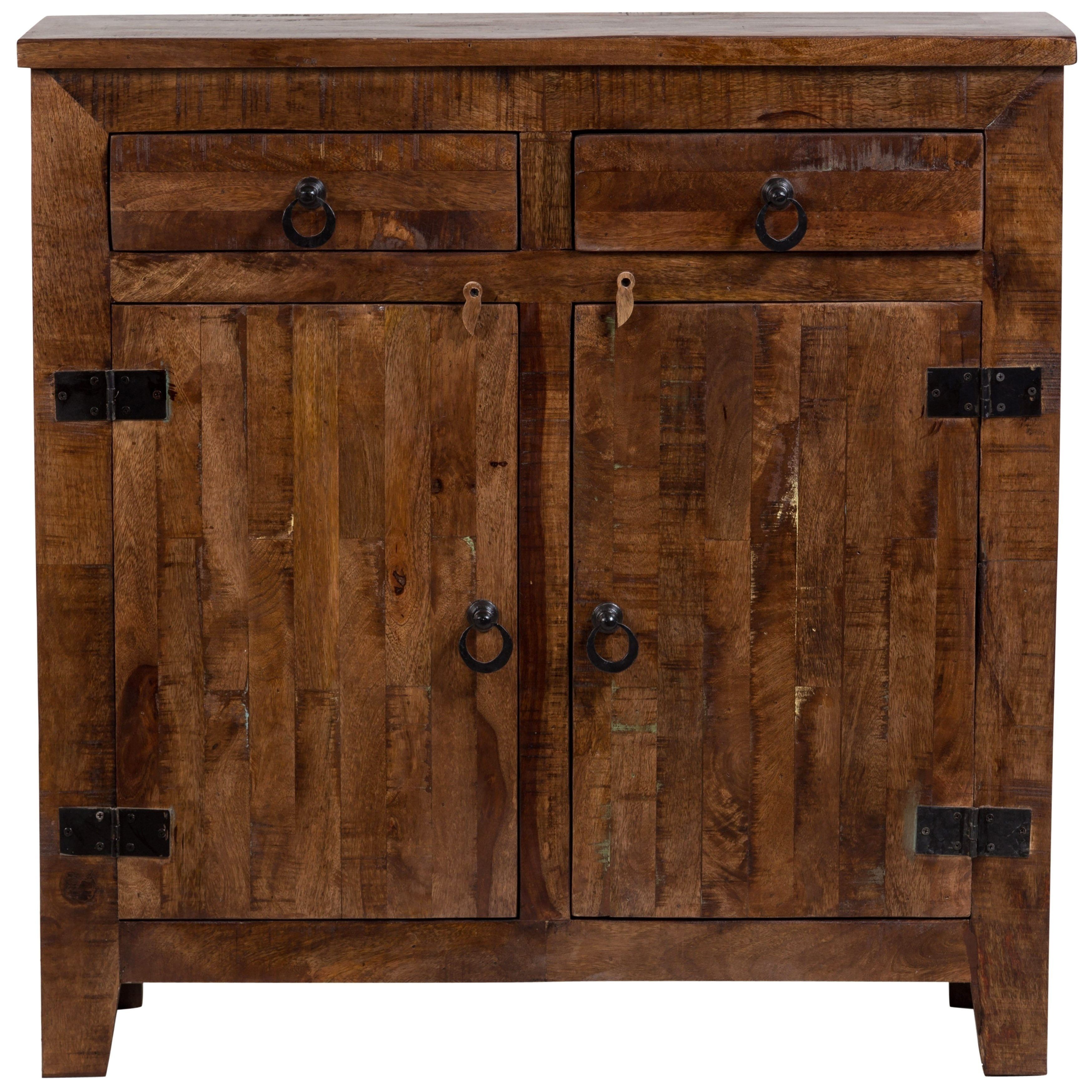Shop Wanderloot Vintage Rustic Mango Wood Handmade Two Door Two Regarding Most Recent Antique Walnut Finish 2 Door/4 Drawer Sideboards (#18 of 20)