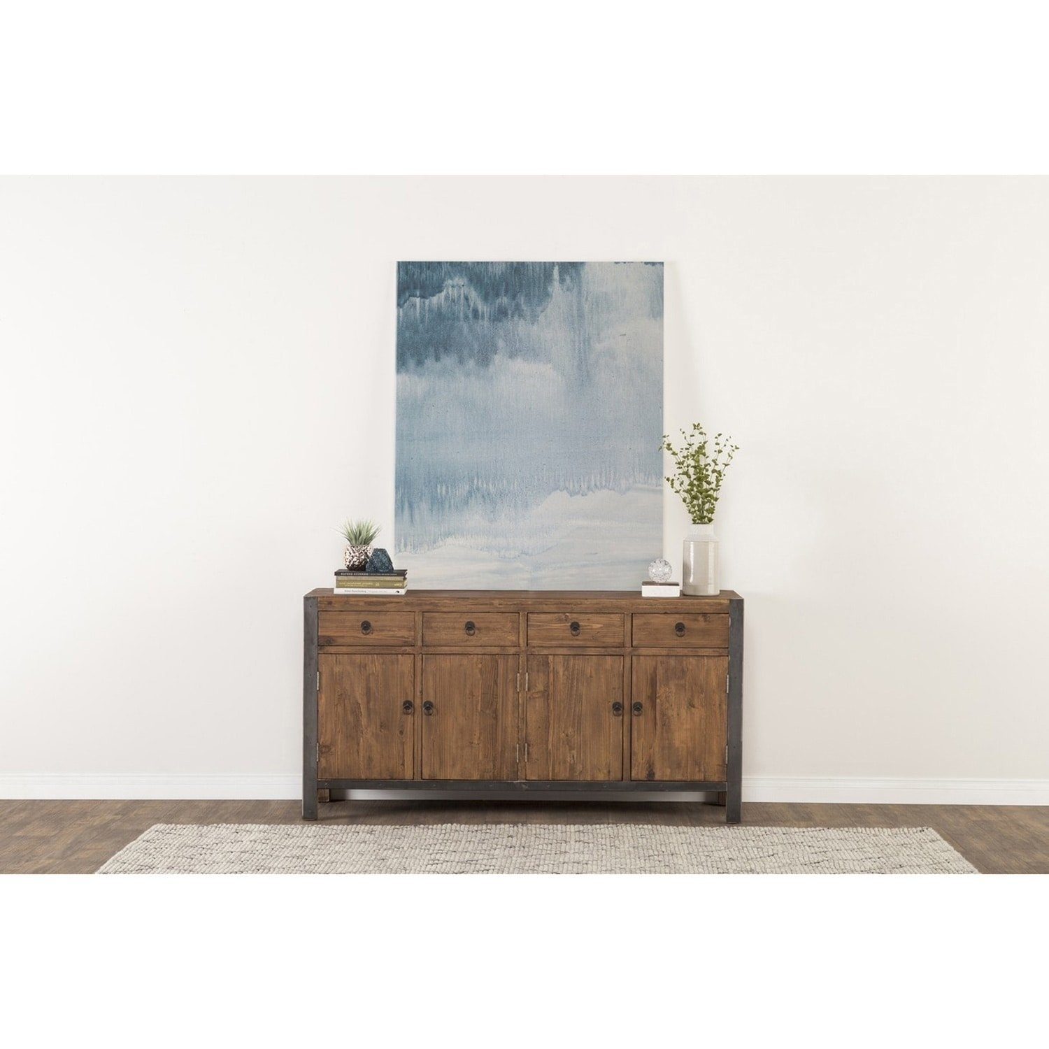 Shop Willow Reclaimed Wood And Iron 70 Inch Buffetkosas Home With Regard To Best And Newest Reclaimed Pine & Iron 72 Inch Sideboards (View 9 of 20)