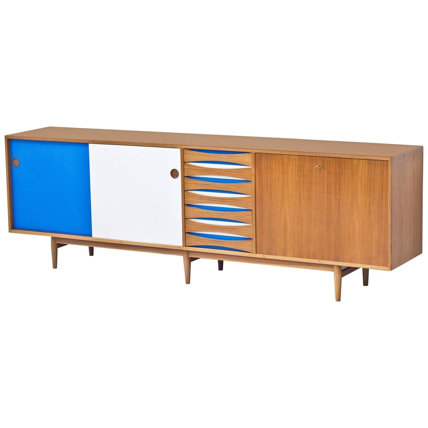 Sideboard Model 29Aarne Vodder | Furniture Storage, Teak And Drawers Within Most Up To Date Dark Smoked Oak With White Marble Top Sideboards (#10 of 20)