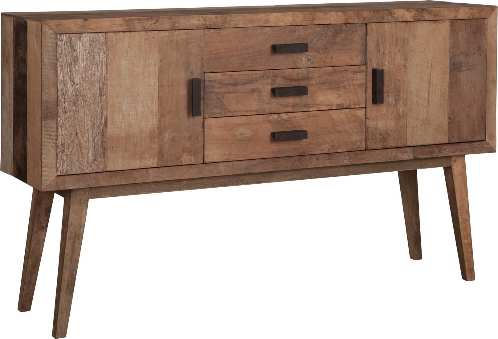 Sideboard Vintage, 2 Doors, 3 Drawers Regarding Most Popular Natural Oak Wood 2 Door Sideboards (View 18 of 20)