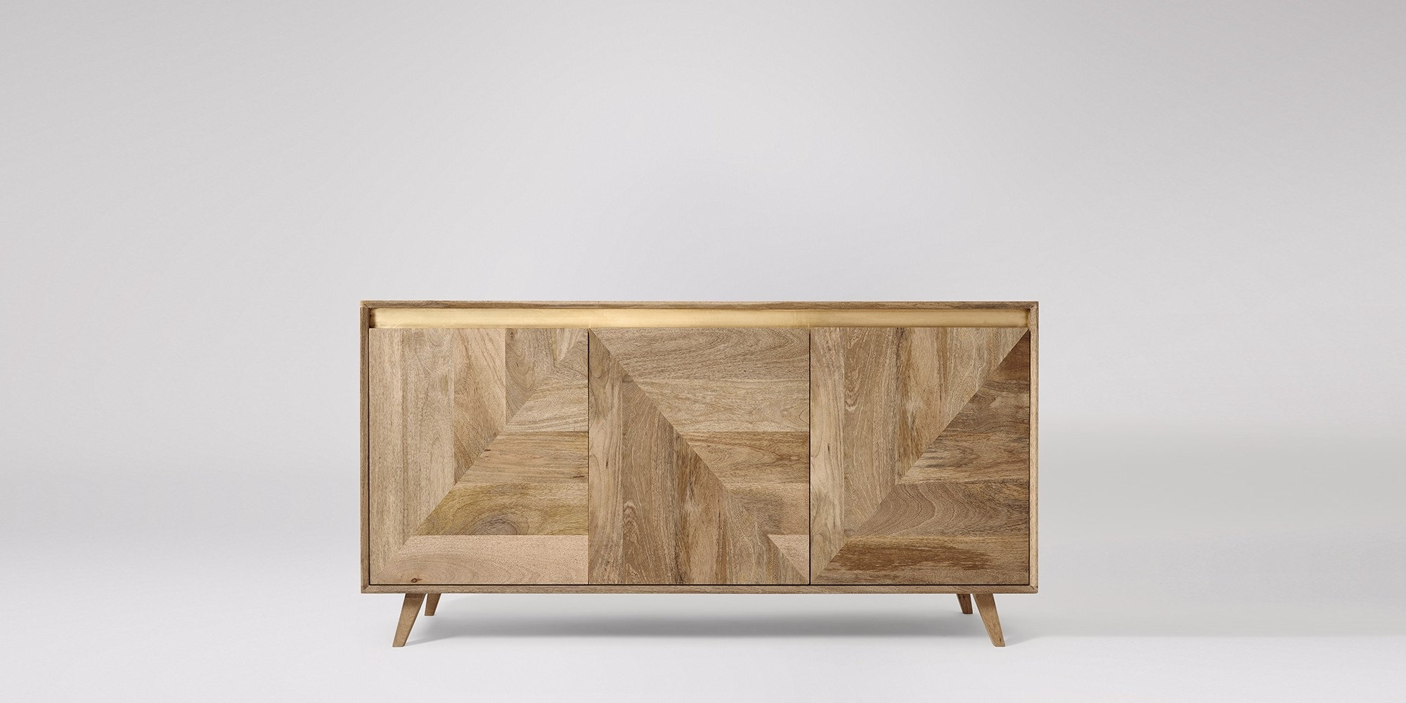 Sideboards | Buffets & Credenzas | Swoon | Swoon In Most Current 4 Door Wood Squares Sideboards (#19 of 20)