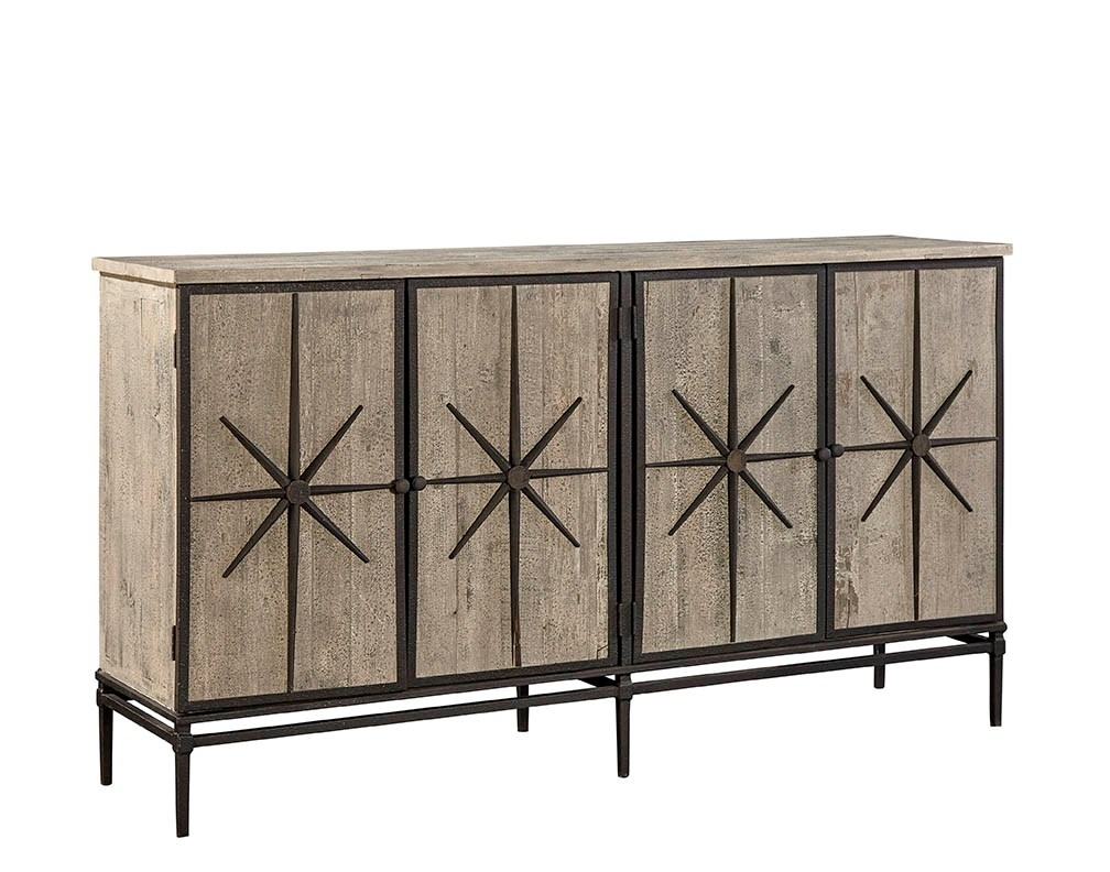 Sideboards, Cabinets, Shelving Regarding Current Reclaimed Sideboards With Metal Panel (#16 of 20)