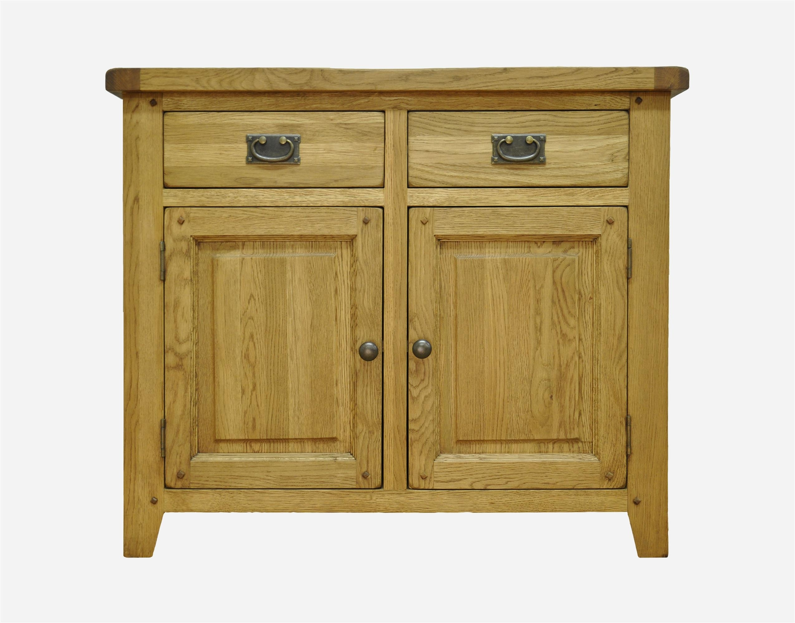 Sideboards : Stanton 2 Door 2 Drawer Rustic Oak Sideboardstanton 2 Within 2018 2 Drawer Sideboards (#15 of 20)