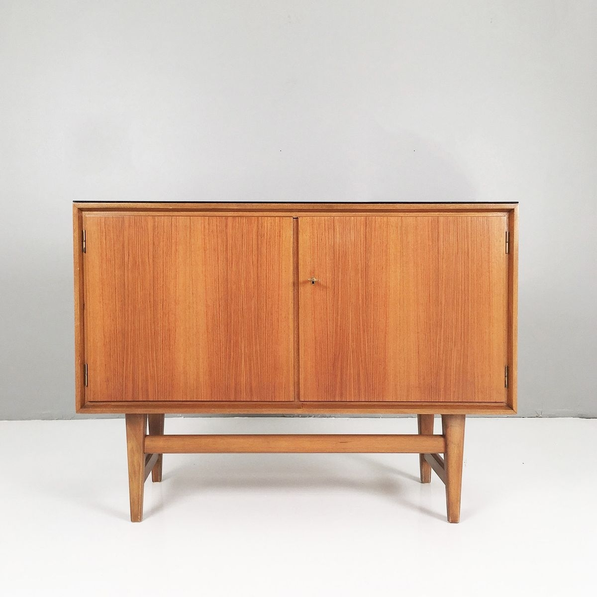 Small Walnut Sideboard, 1950s For Sale At Pamono With Most Current Walnut Small Sideboards (View 14 of 20)