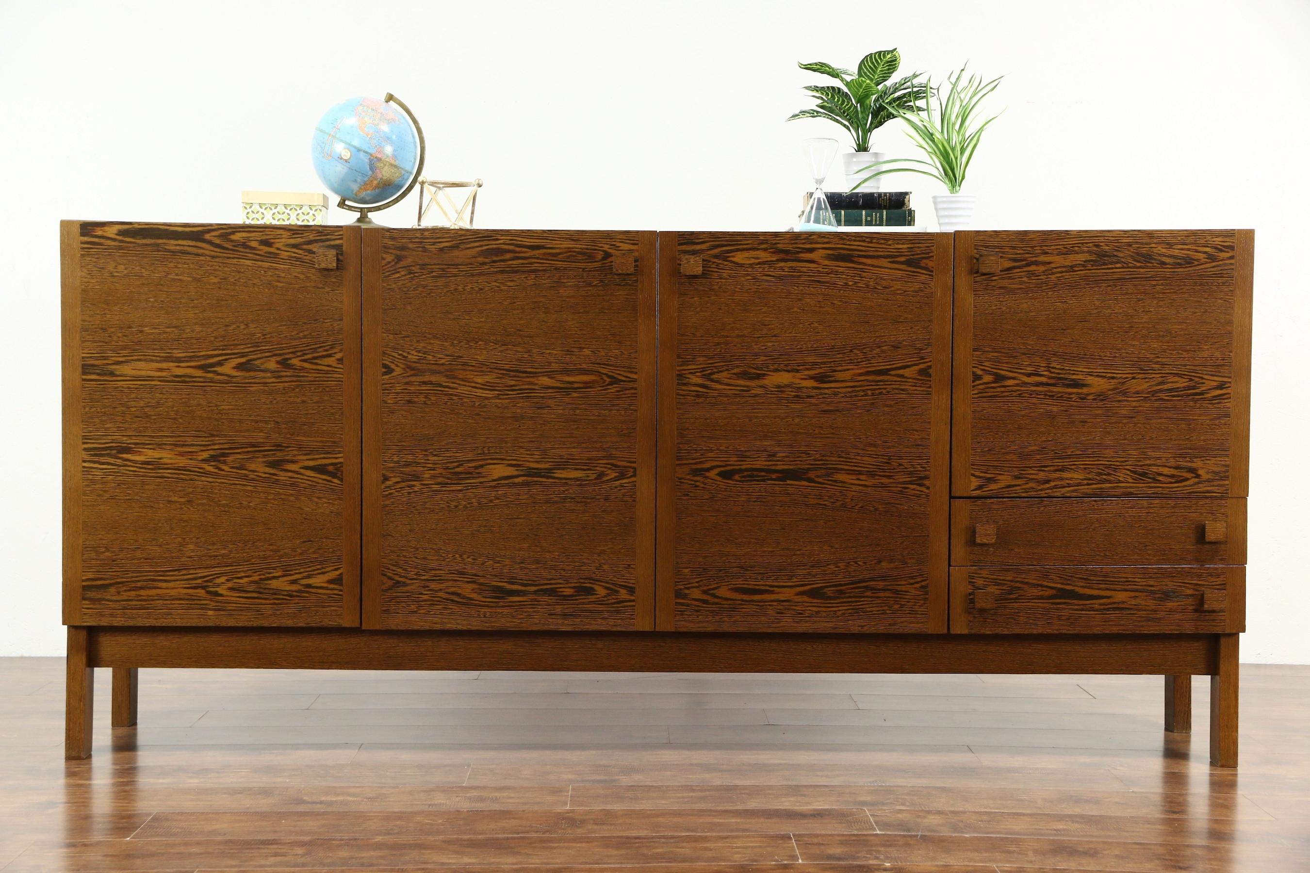 Sold – Midcentury Danish Modern Panga Panga 60's Vintage Sideboard With Regard To Latest Vintage Brown Textured Sideboards (View 7 of 20)