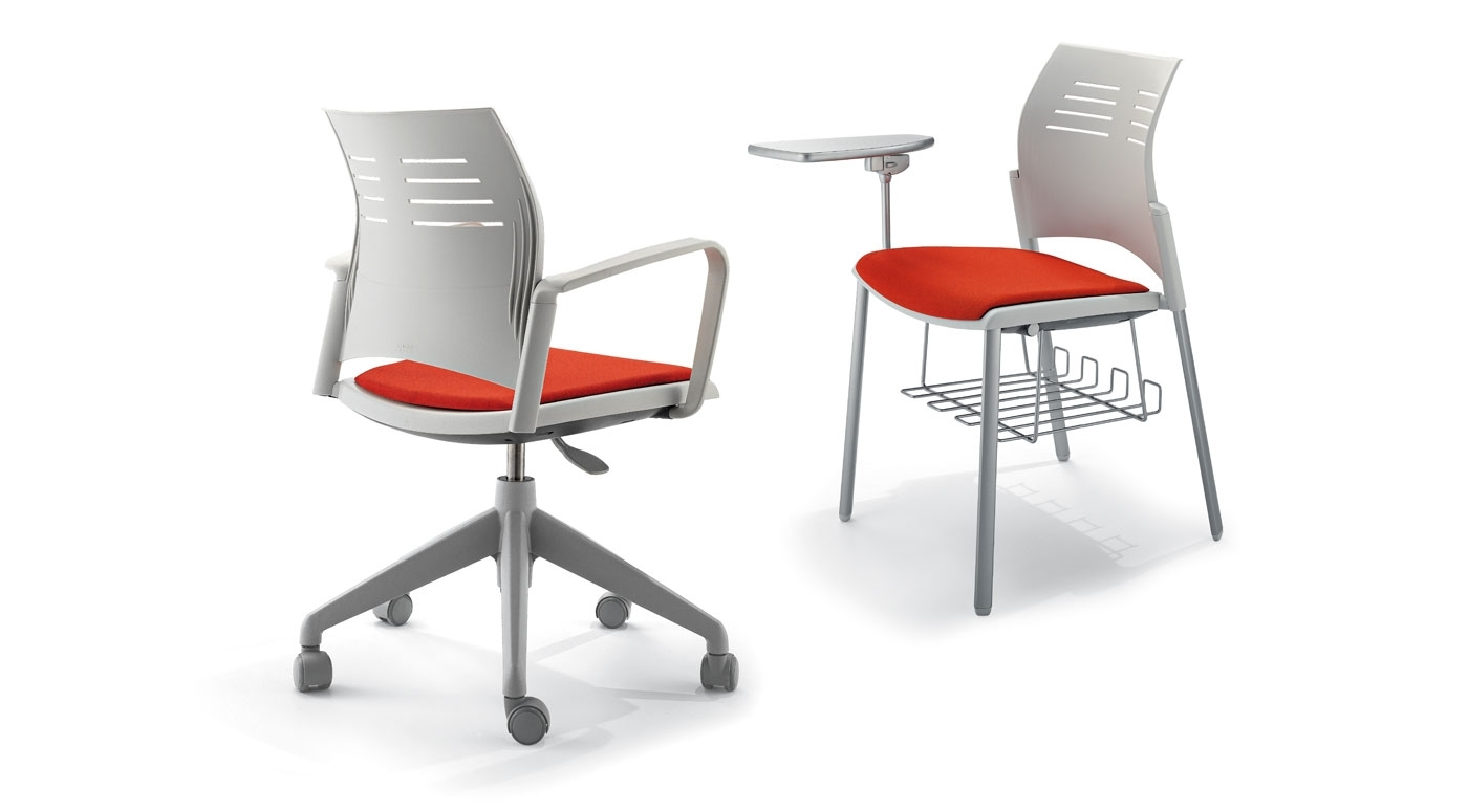 Spacio Is A Light And Polyvalent Chair For Different Environments Within Well Known Cole Ii Orange Side Chairs (#17 of 20)