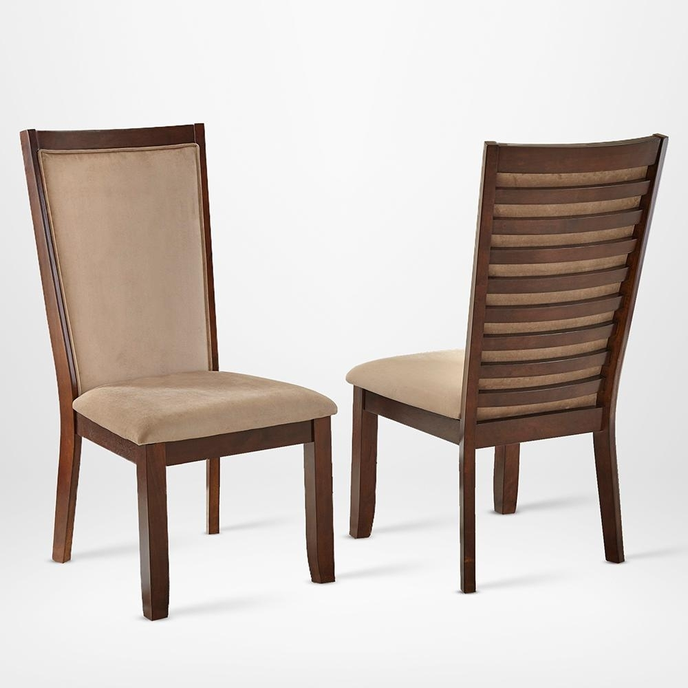 Steve Silver Brianna Side Chair Camel (Set Of 2) Cn600Sc – The Home For 2019 Caira Black Upholstered Side Chairs (#18 of 20)