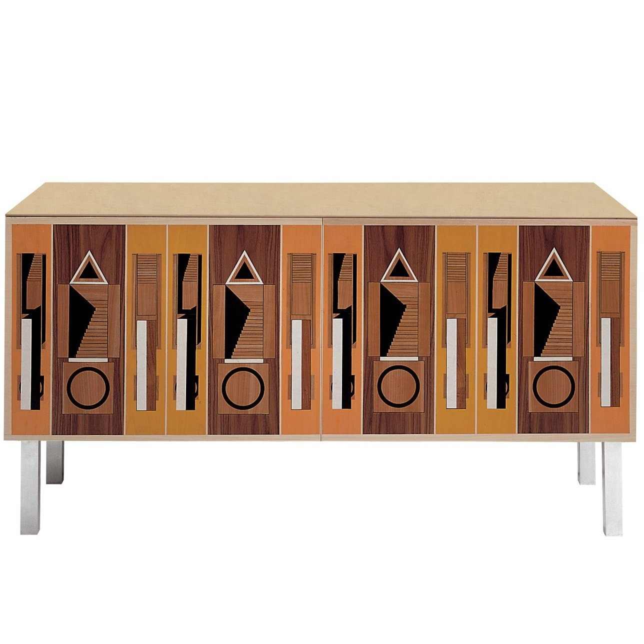 Striking 'intarsia' Sideboard With A Vintage Designaldo Rossi Throughout Current Rossi Large Sideboards (#17 of 20)