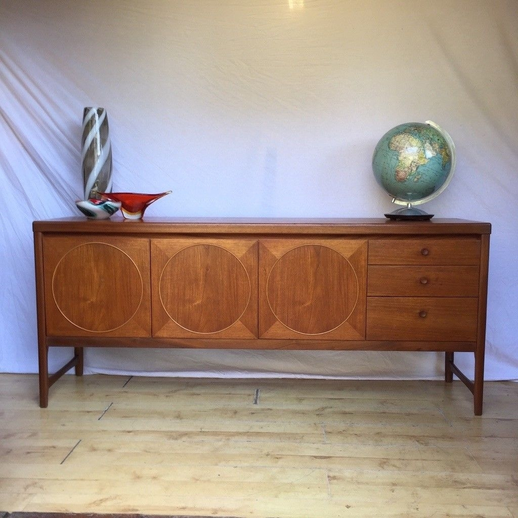 Stunning 1960S Vintage Nathan Circles Teak Credenza Sideboard | In Inside Most Current Norwood Sideboards (View 5 of 20)