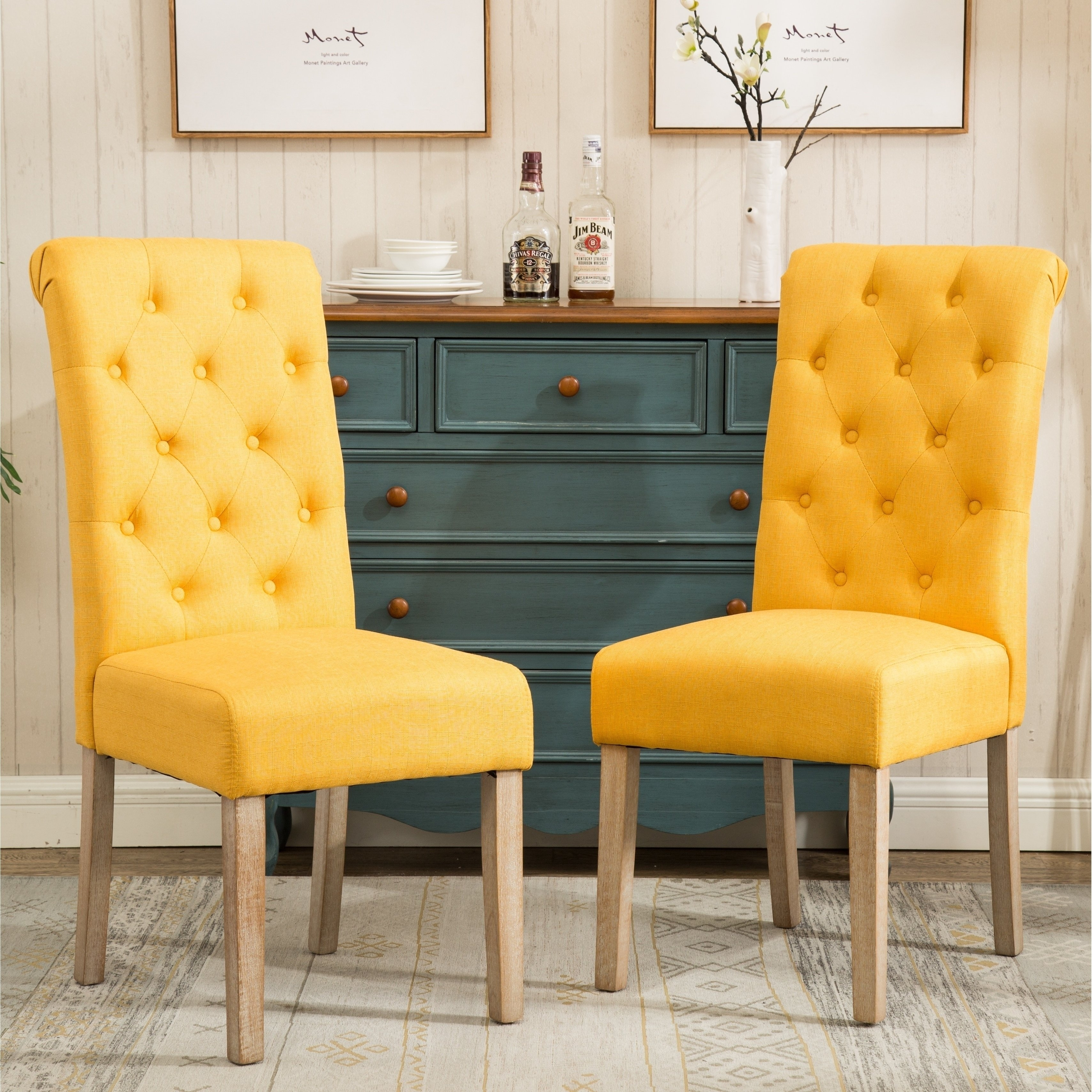 Swift Side Chairs For Favorite Shop Habit Solid Wood Tufted Parsons Dining Chair (Set Of 2) – Free (#18 of 20)