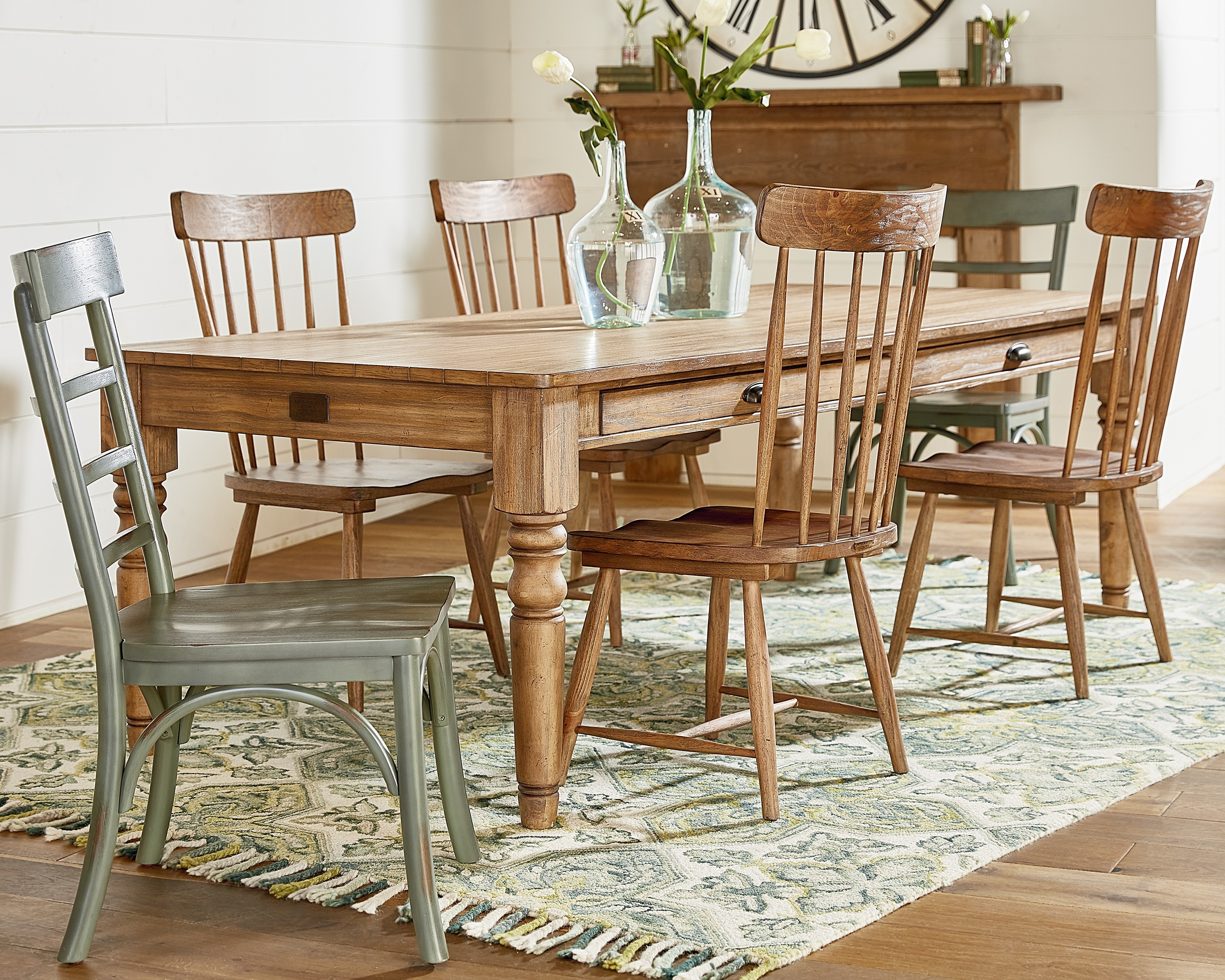 Inspiration about Taper Turned + Spindle Back – Magnolia Home For Newest Magnolia Home Harper Patina Side Chairs (#7 of 20)